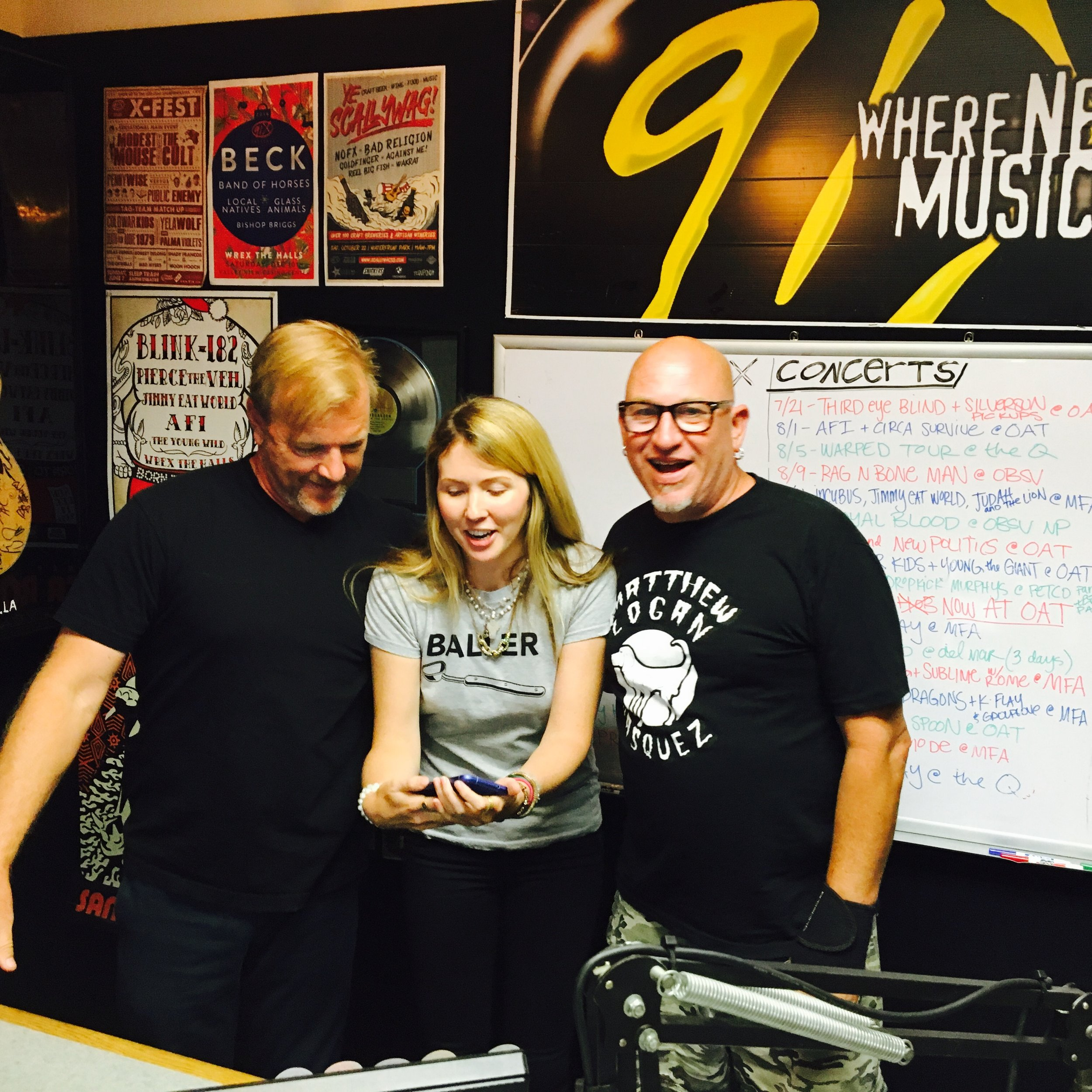 Beatie Wolfe + Tim Pyles + Lu Niles on 91x Radio