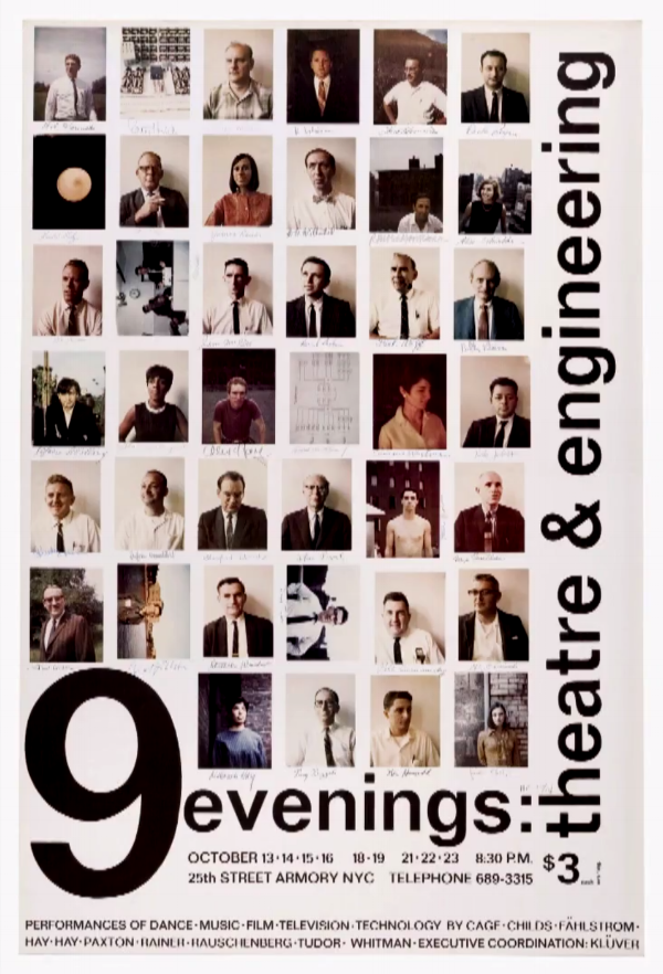 POSTER FOR 9 EVENINGS: THEATRE & ENGINEERING