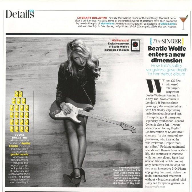 The main magazine feature