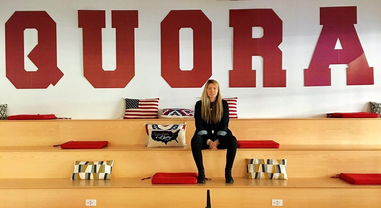 Beatie Wolfe in Quora HQ