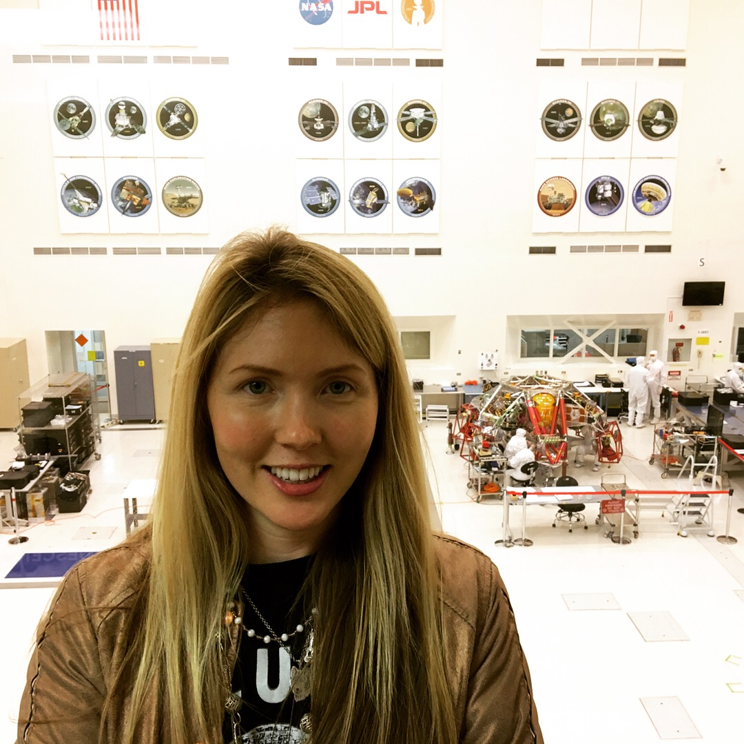 Beatie Wolfe in NASA's JLP assembly room