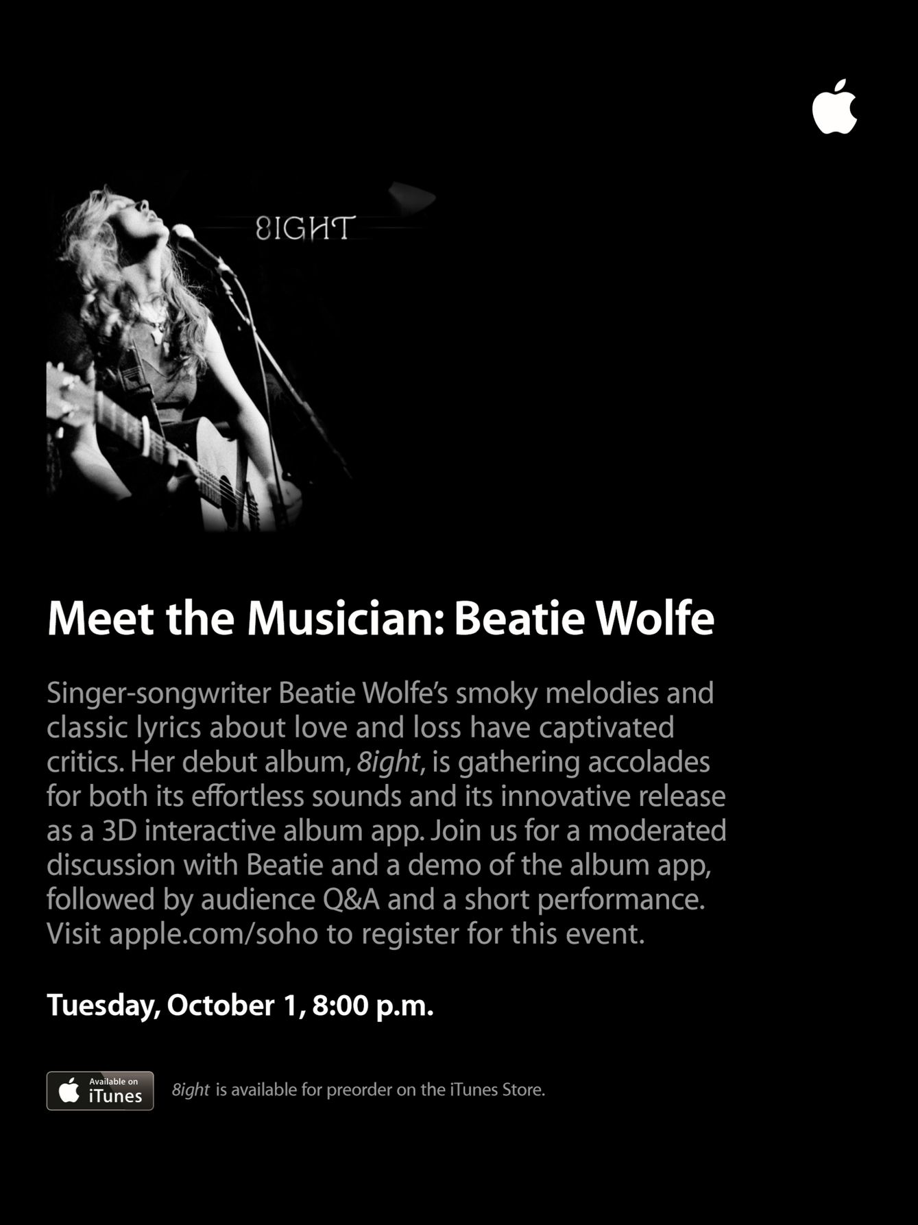 Apple Store London Beatie Wolfe poster