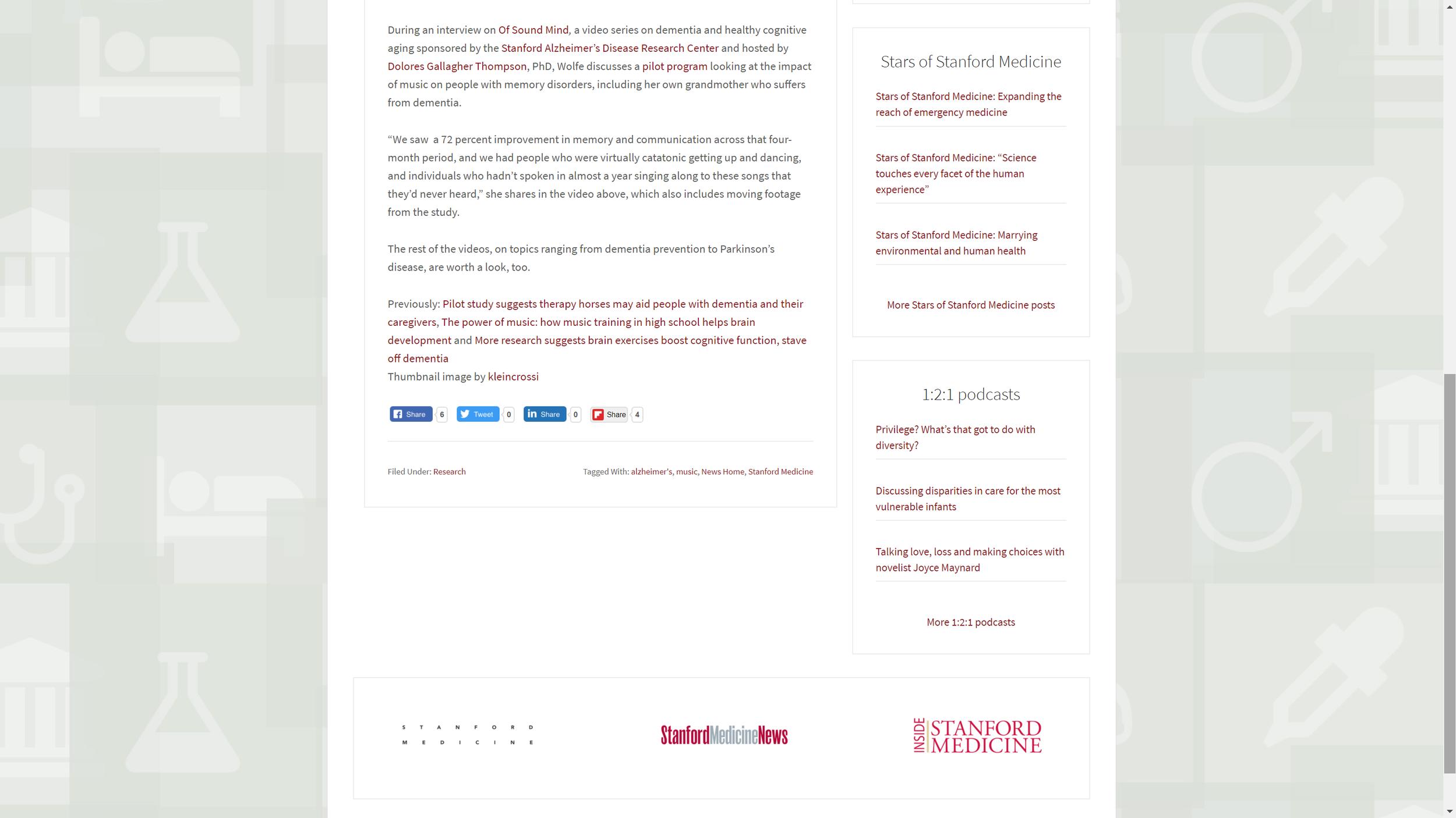Stanford University School of Medicine Screen Grab prt 2