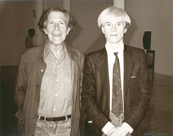 John Cage and Andy Warhol - Fellow E.A.T. Artist