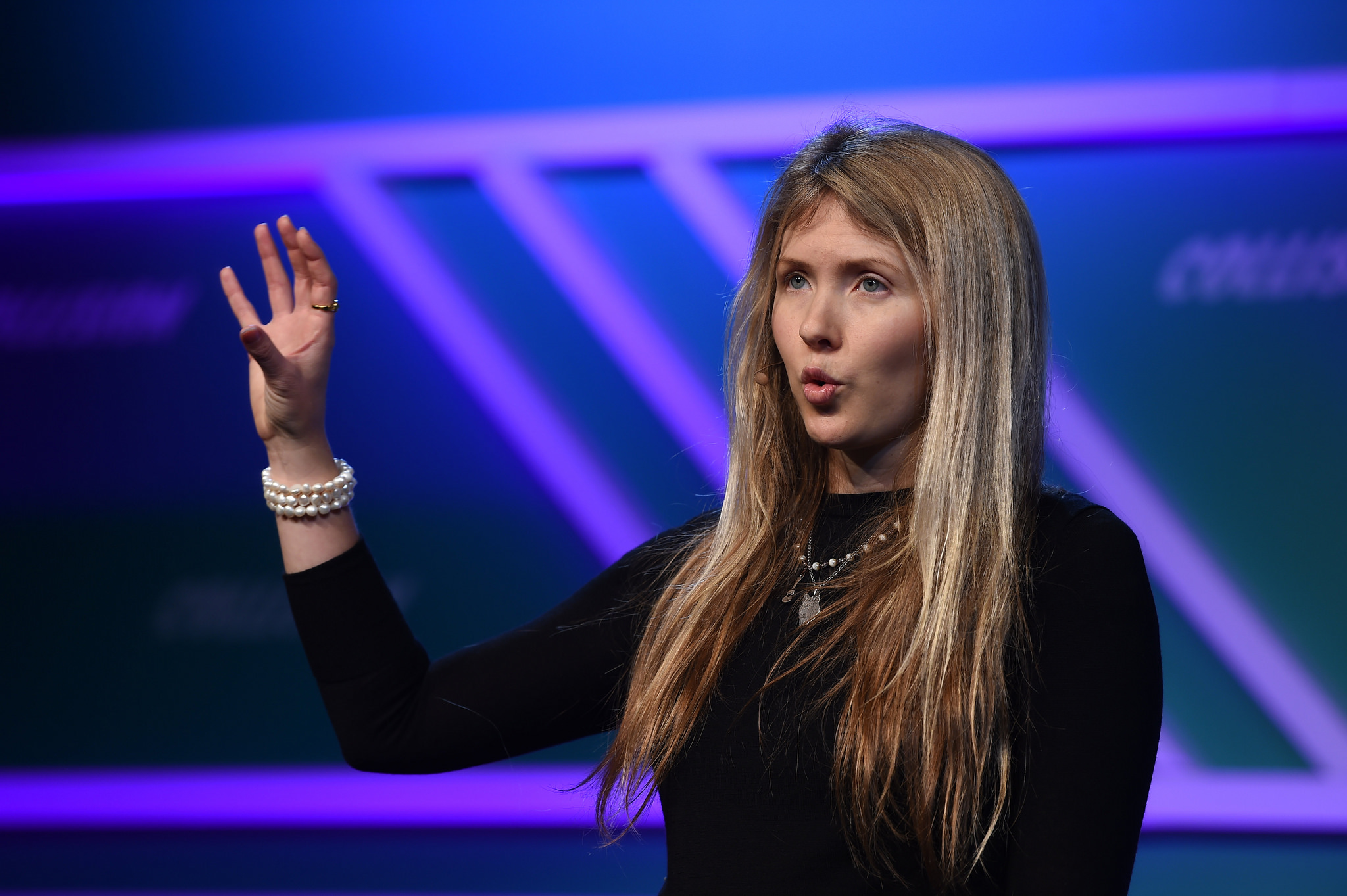Beatie Wolfe talking at Collision in New Orleans for Web Summit