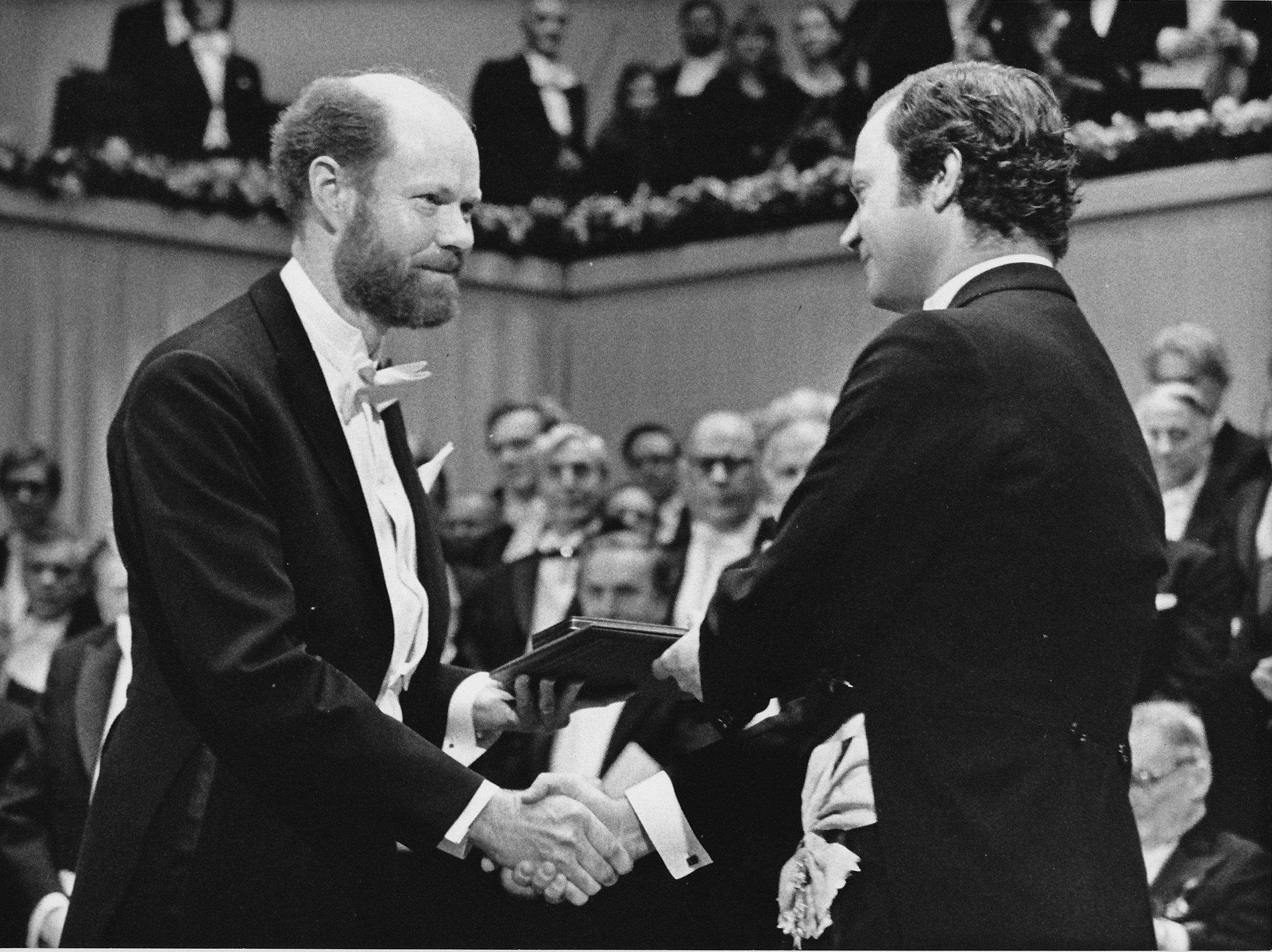 Bob King Carl Gustav Collecting his Nobel Prize