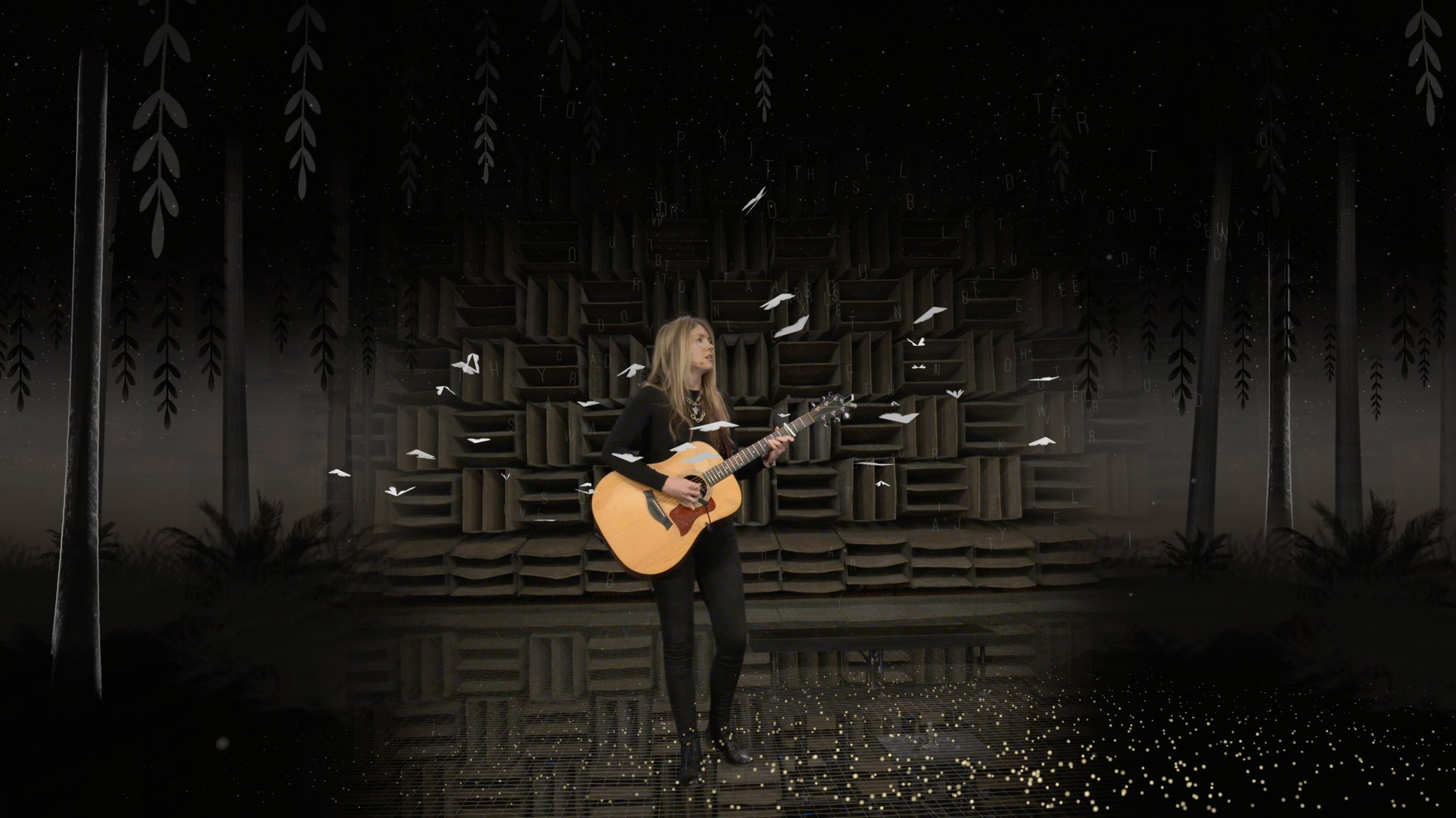 Beatie Wolfe - 2017 Raw Space - singing Little Moth with live generative AR