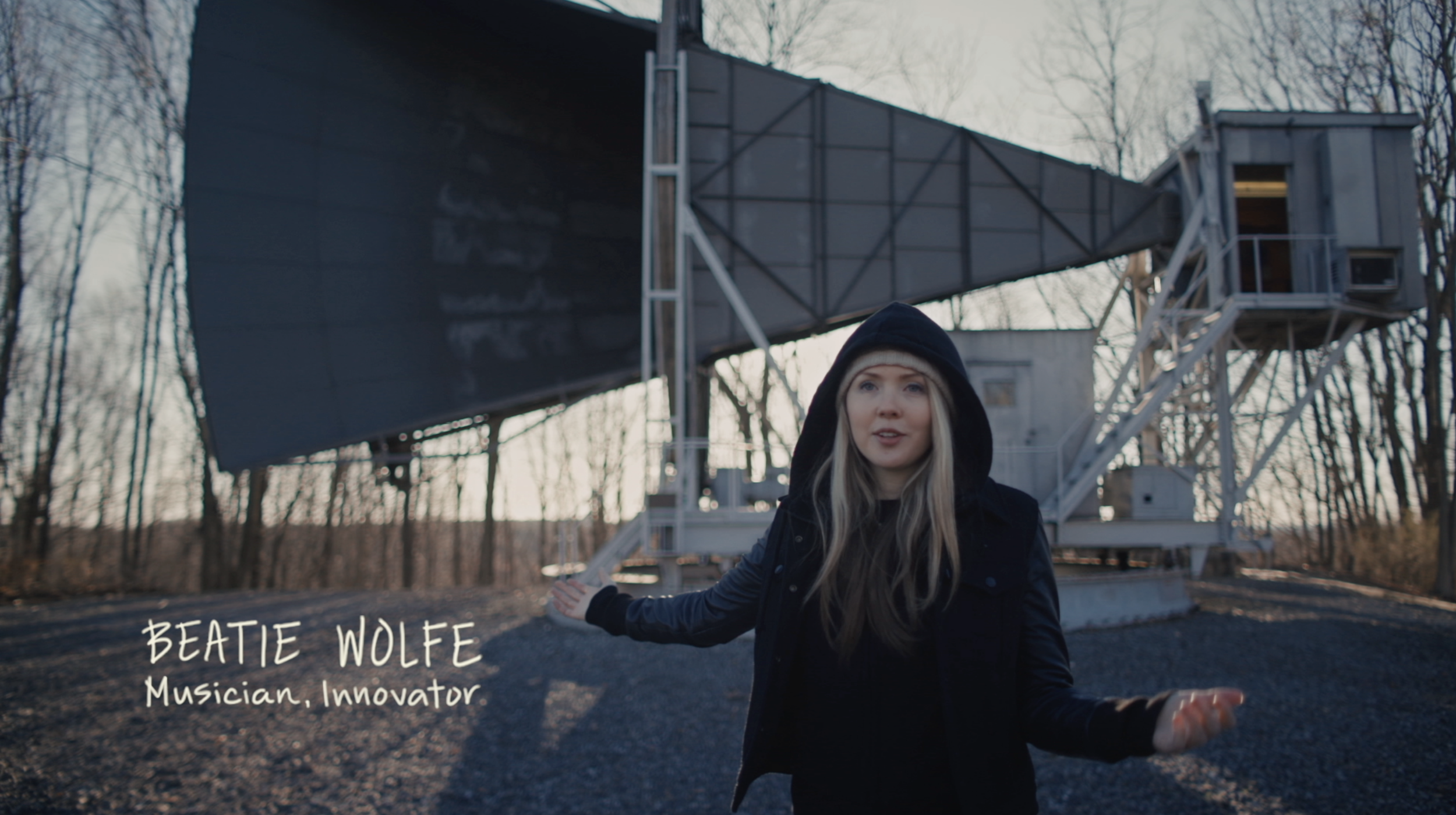 Beatie Wolfe - 2018 Raw Space Beam - Nokia Bell Labs Holmdel Horn Antenna
