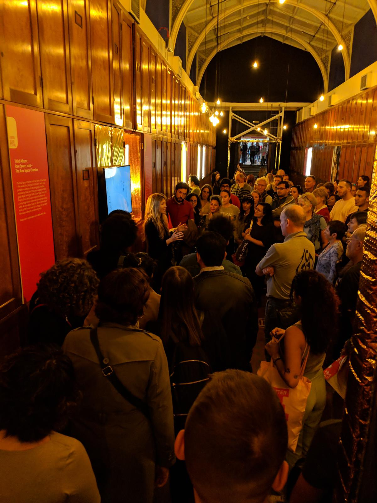 V&A visitors at Beatie Wolfe's Album Exhibition