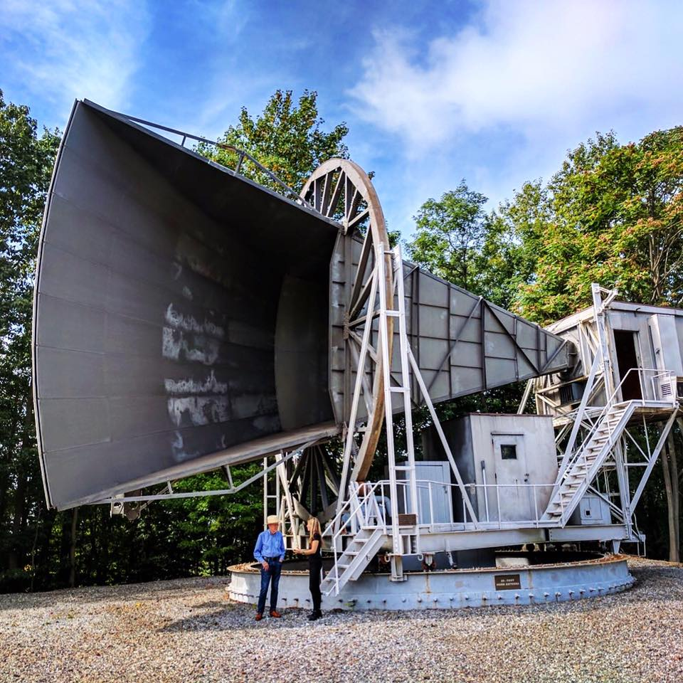 Bob Wilson and Beatie Wolfe at the Holmdel Horn Antenna