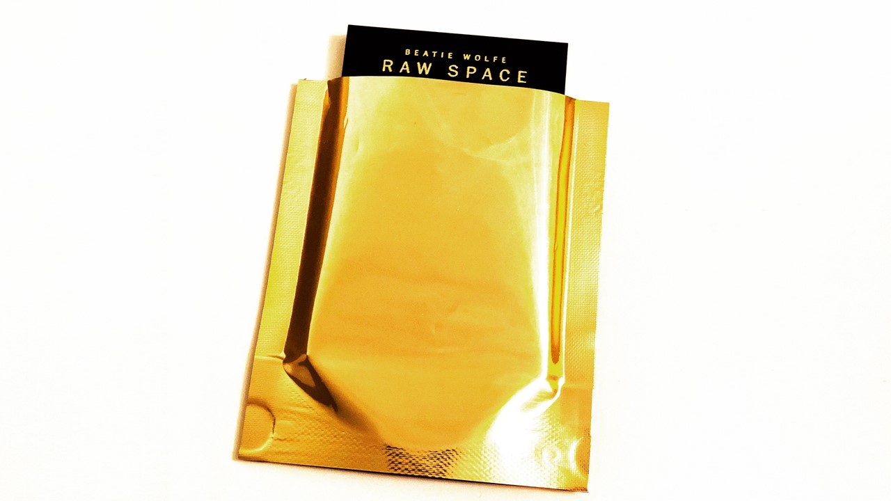 Beatie Wolfe Raw Space Album deck pack in gold mylar landscape.jpg