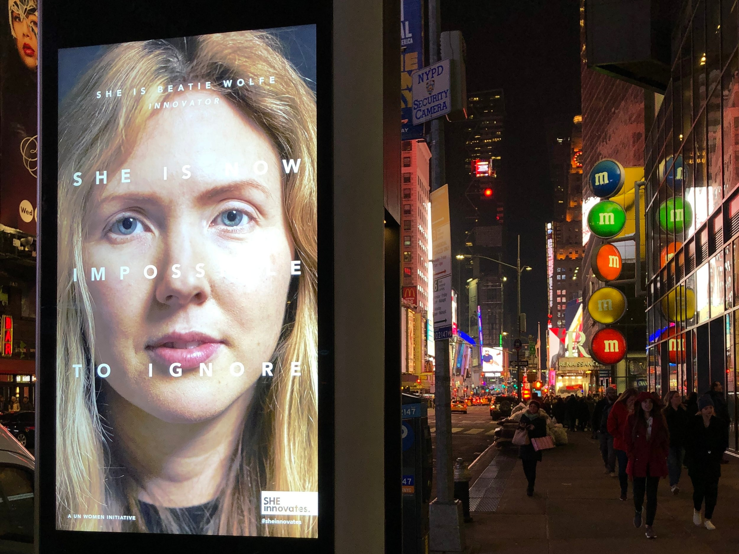 NYC 1 of 3500 spots in Manhatten ft Beatie Wolfe in UN campaign.JPG