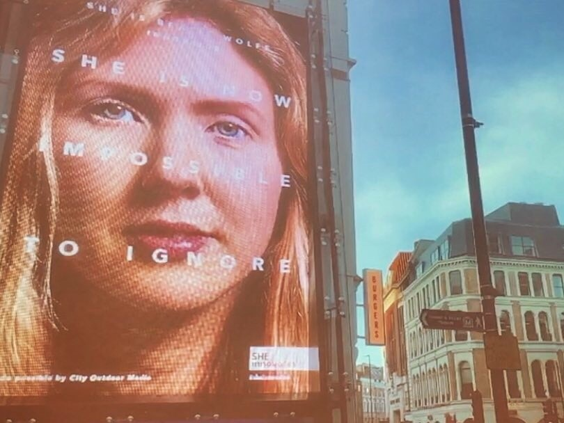 UK Liverpool St station ft Beatie Wolfe UN impossible to ignore campaign.jpg