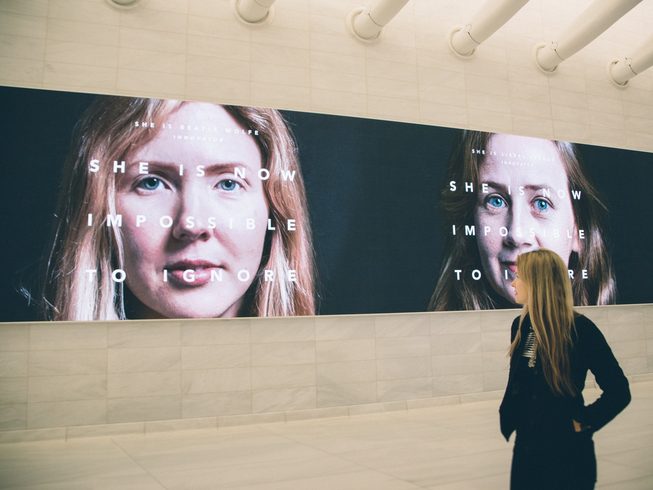 NYC World Trade Center ft Beatie Wolfe UN impossible to ignore campaign by Veanne Cao.JPG