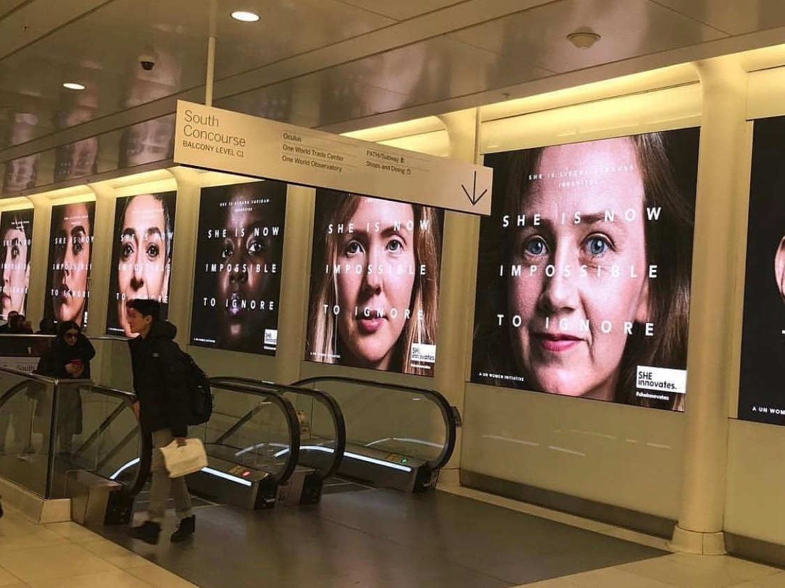 NYC Impossible to Ignore Campaign at Subway station.JPG