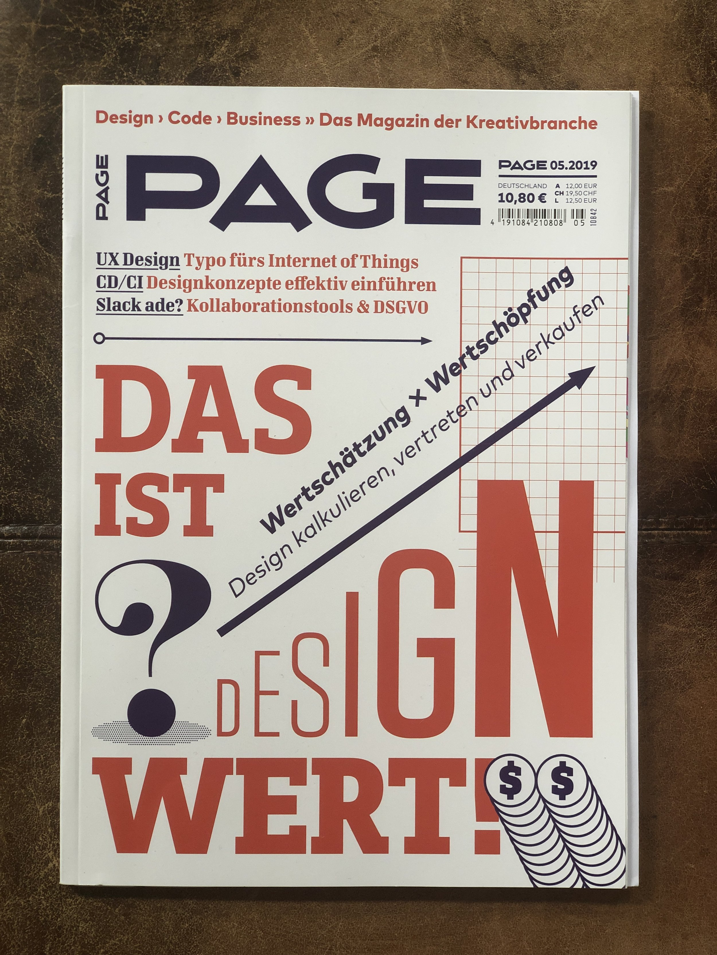 Germany's Page Magazine features Beatie Wolfe