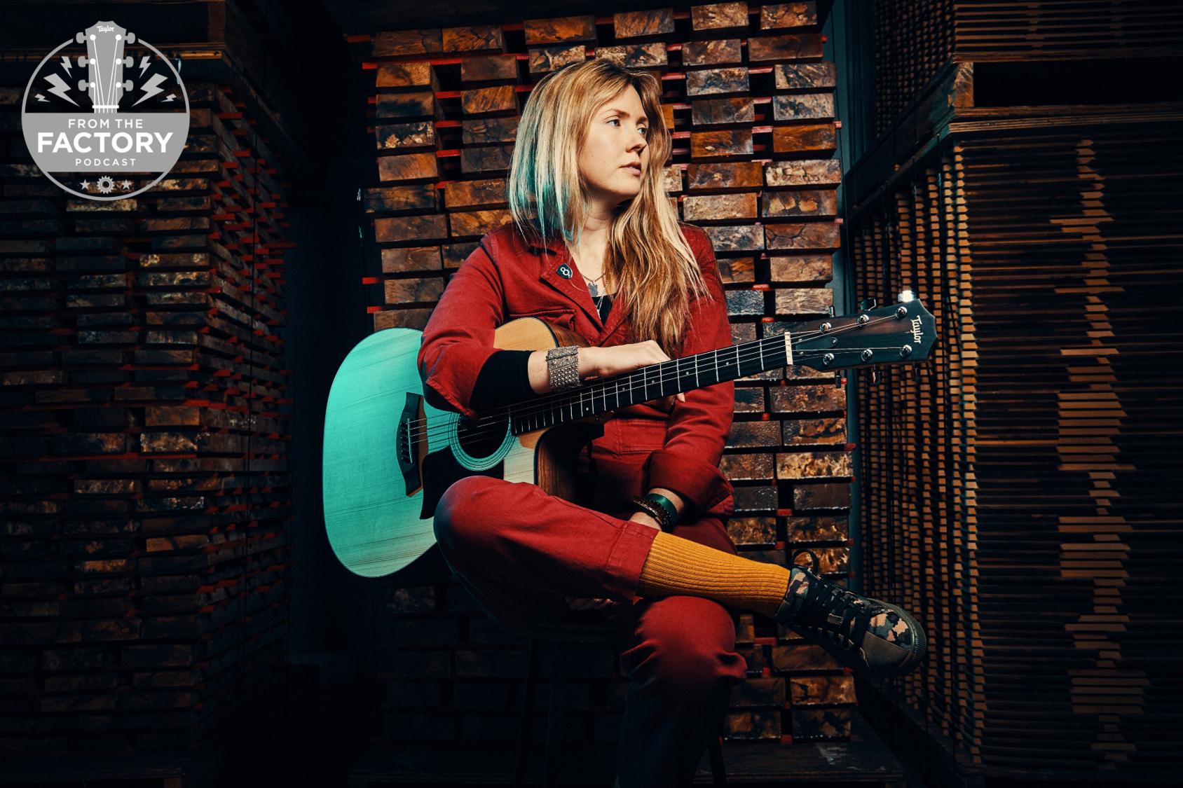 Beatie Wolfe - Taylor Guitars Factory Floor - podcast Image - logo top