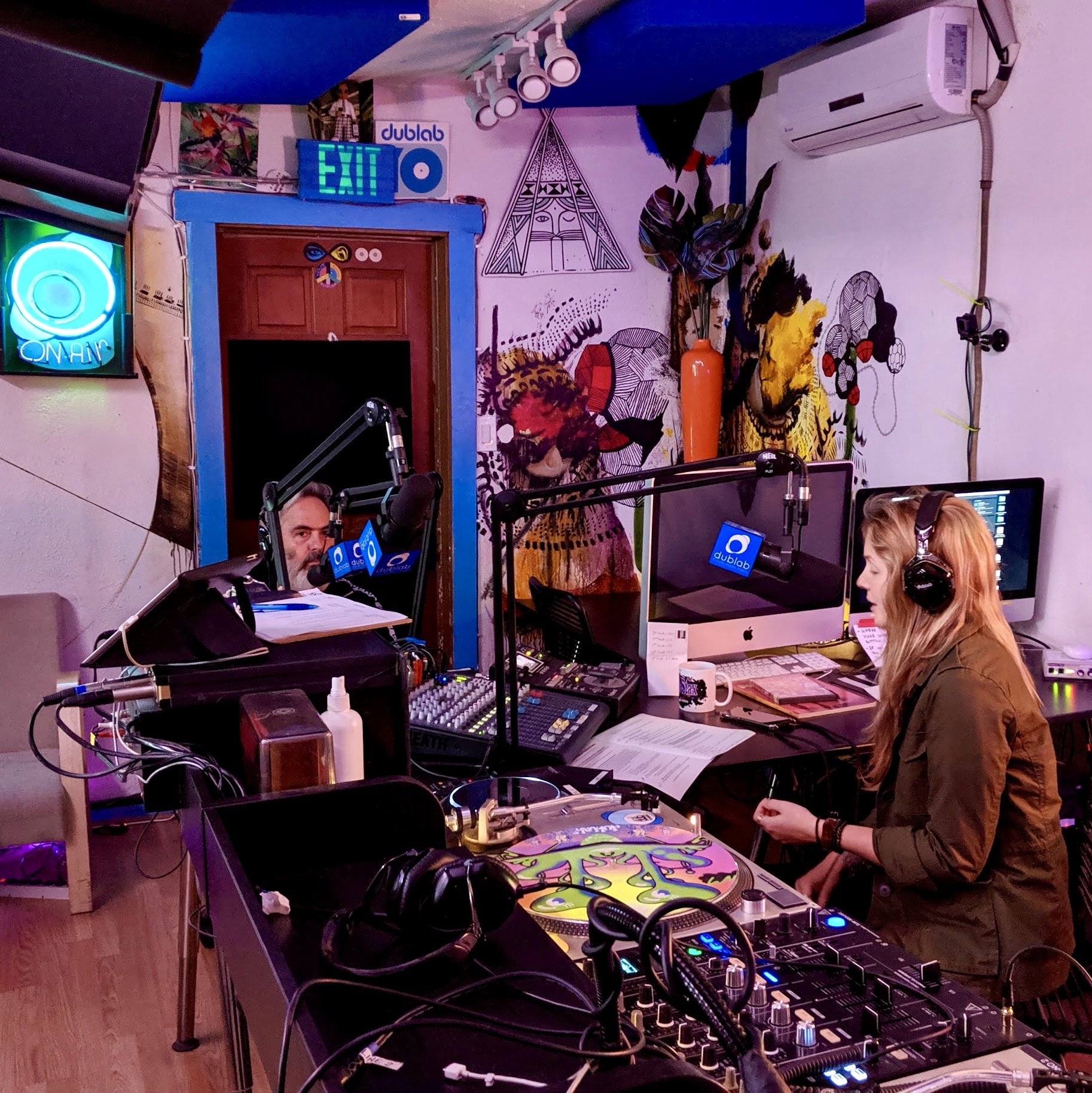 Donick Cary and Beatie Wolfe on Orange Juice for the Ears on dublab radio (11).JPG