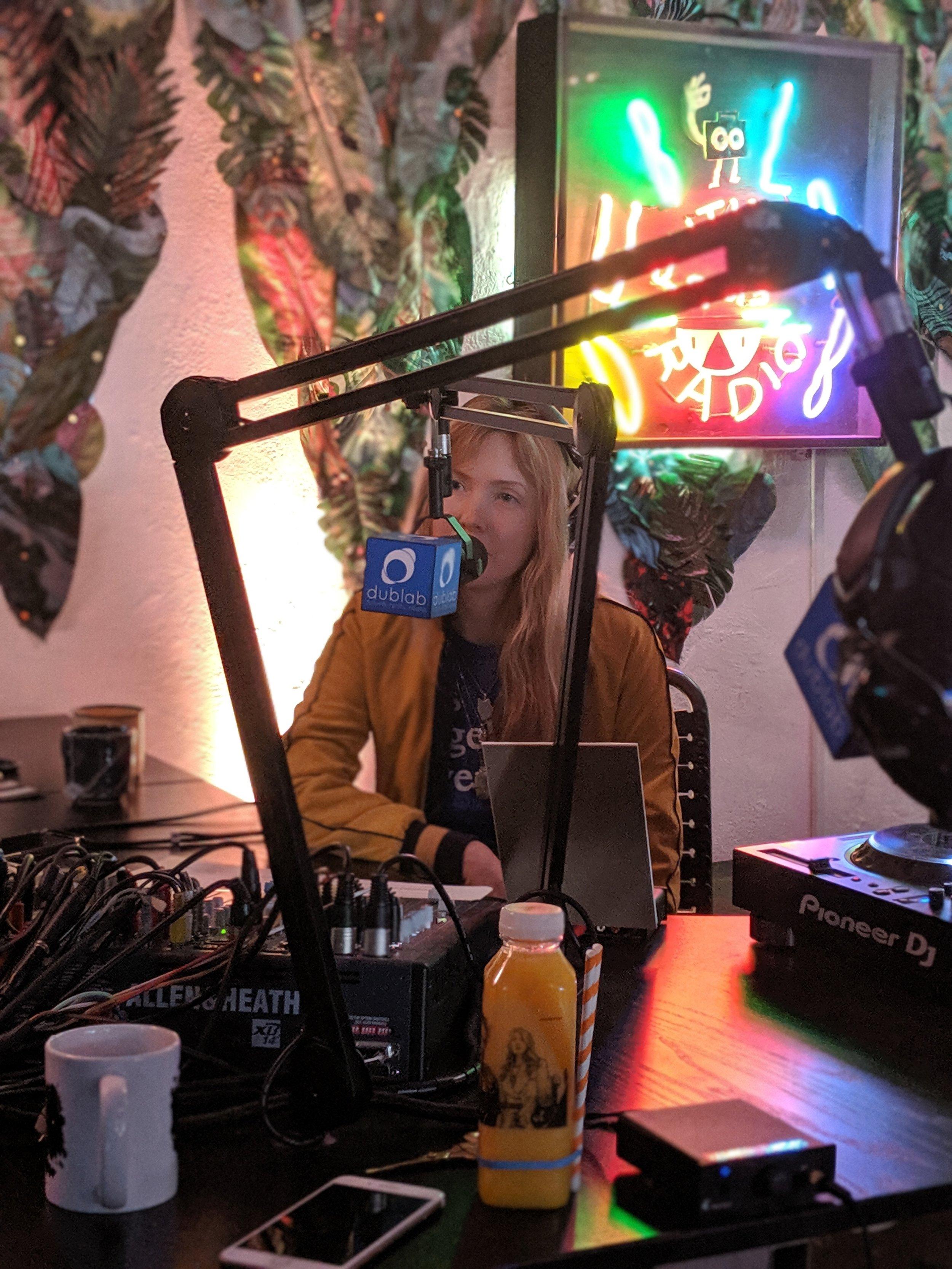 Beatie Wolfe with David Mason at LA's dublab Radio