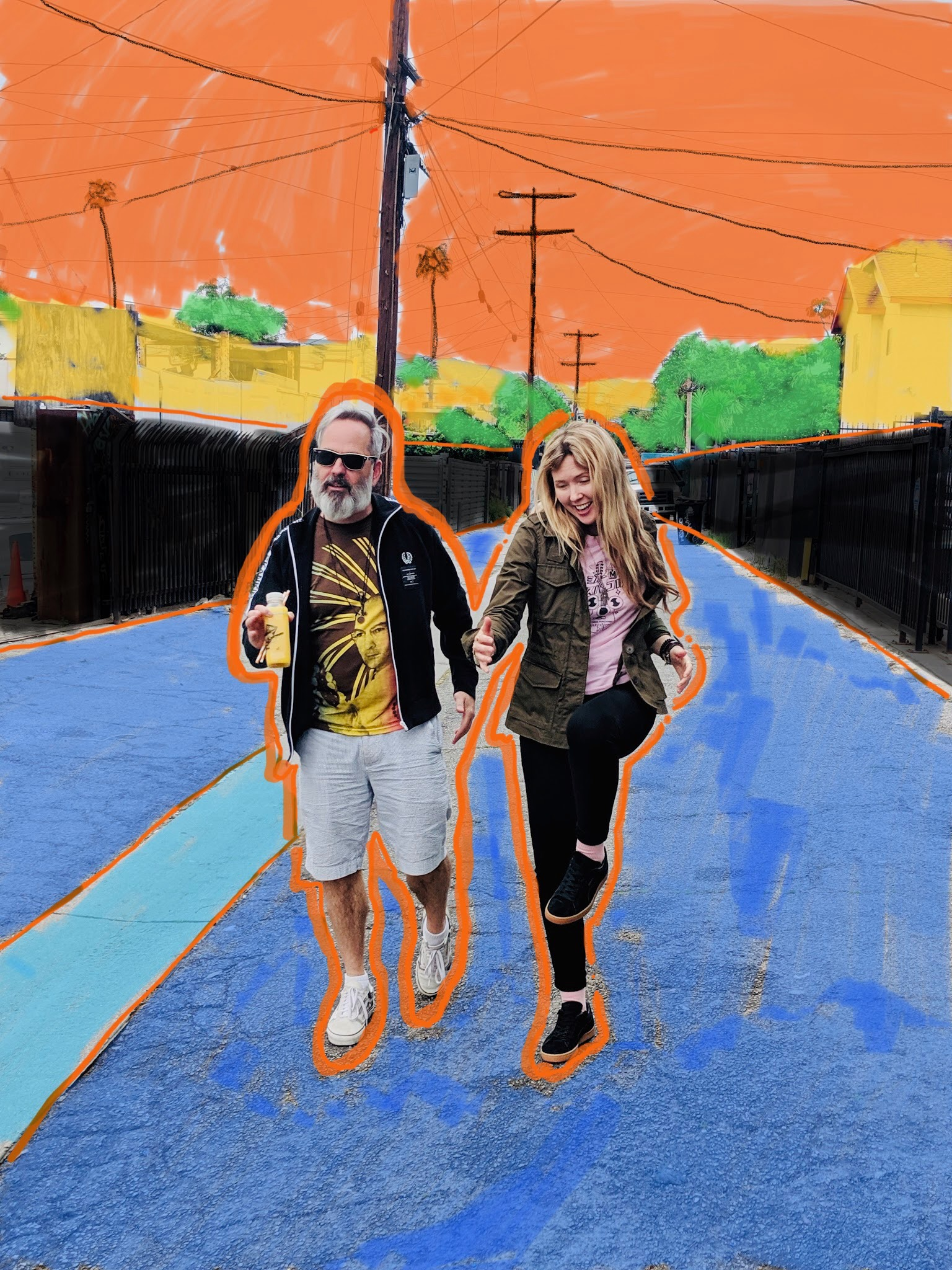 Donick Cary with Beatie Wolfe on her dublab radio show - Orange Juice for the Ears  (1).JPG