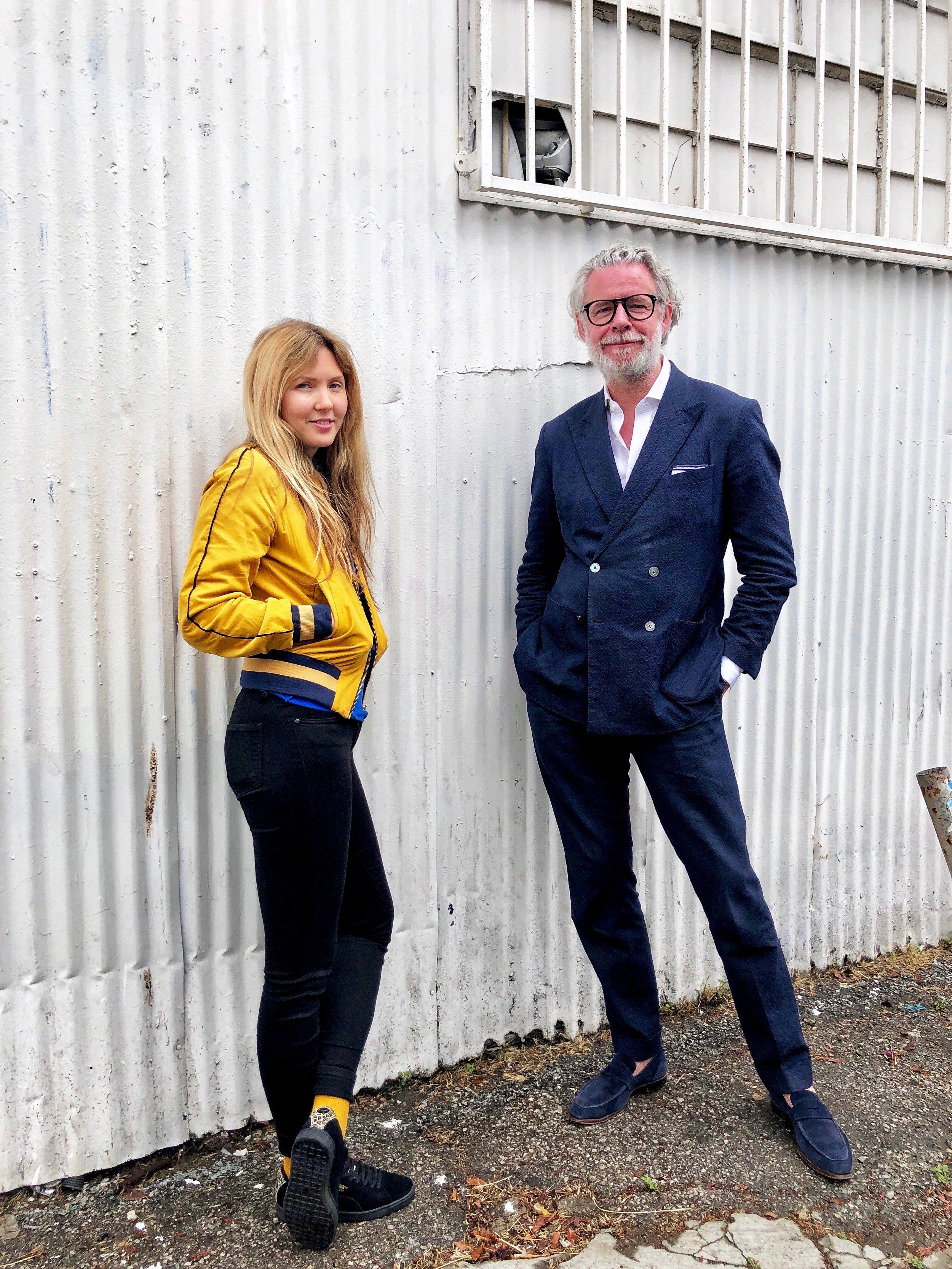 Beatie Wolfe and David Mason out side LA's dublab Radio