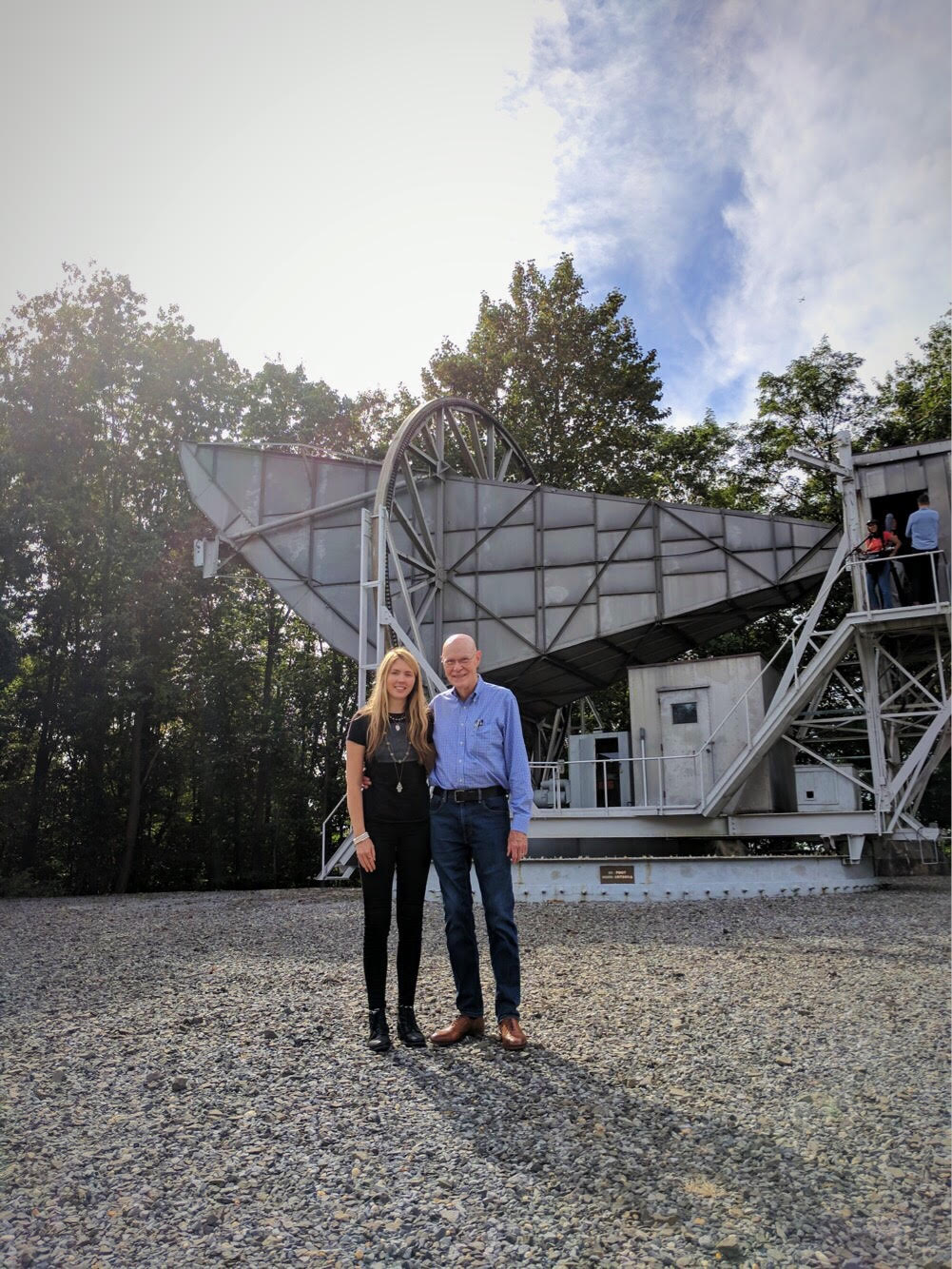 Beatie Wolfe and Bob Wilson at the Holmdel Horn Antenna