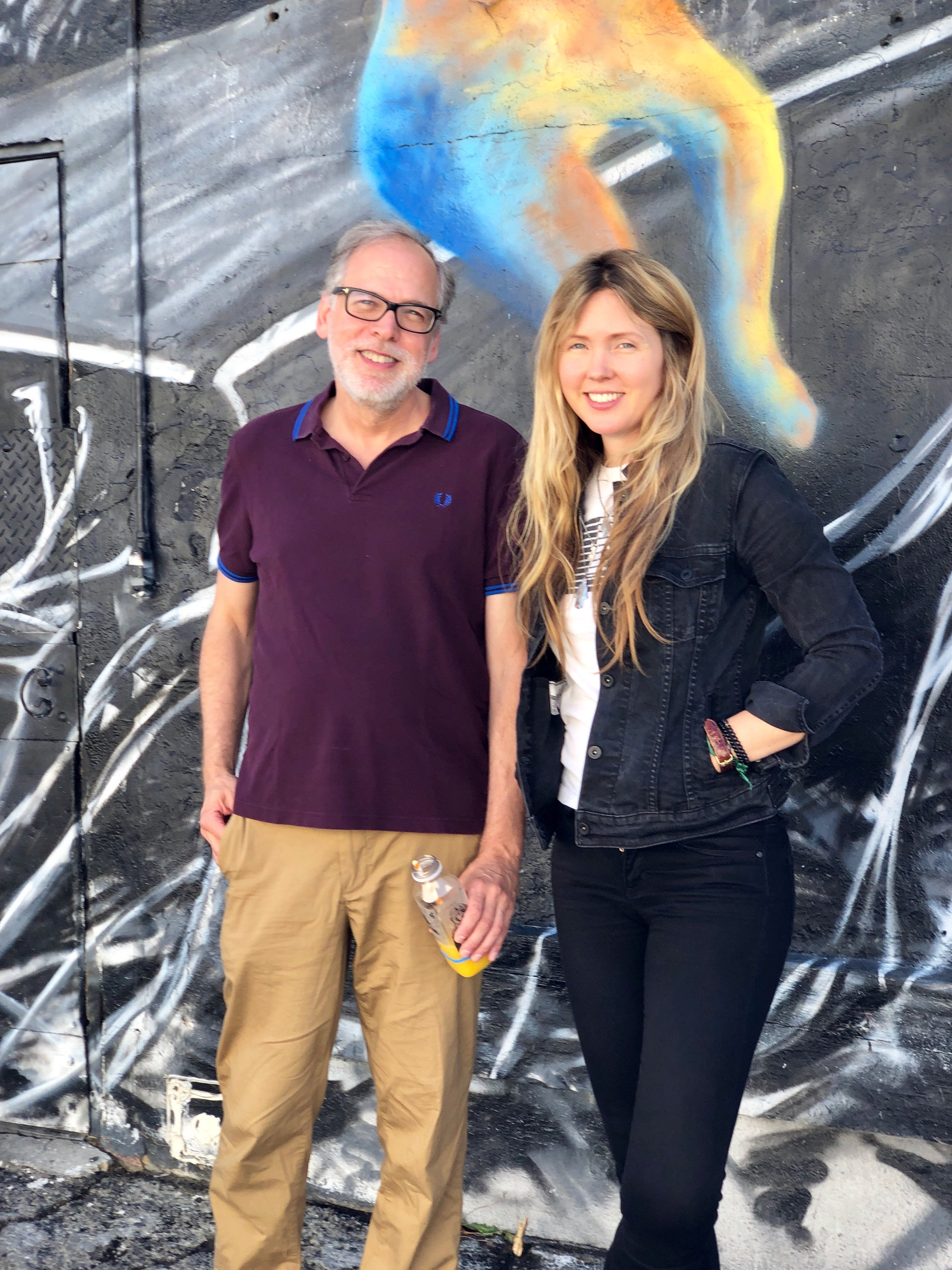 Beatie Wolfe with Craig Marks LA Times Music Editor