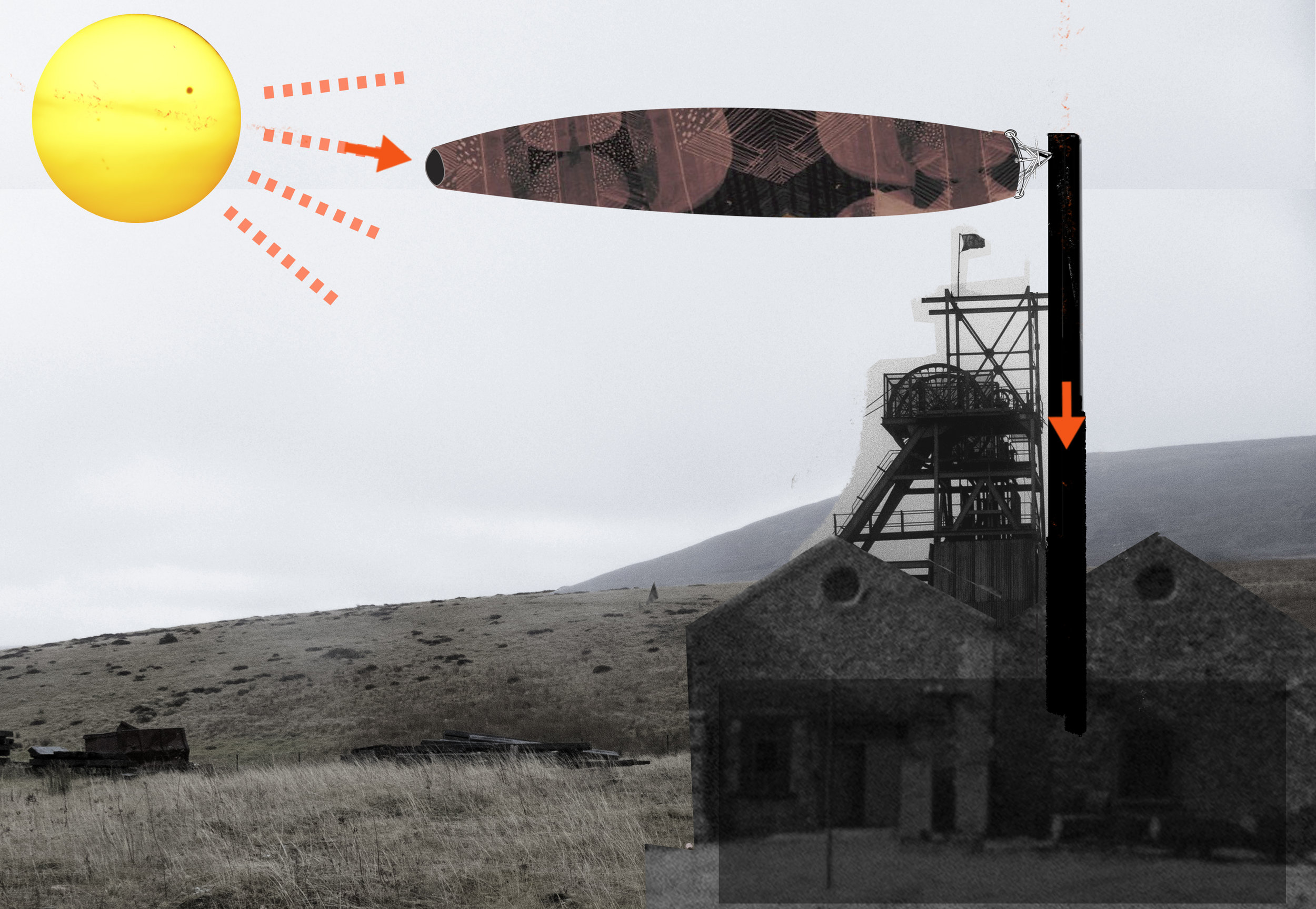 A frame from a gif showing the solar flag in use.