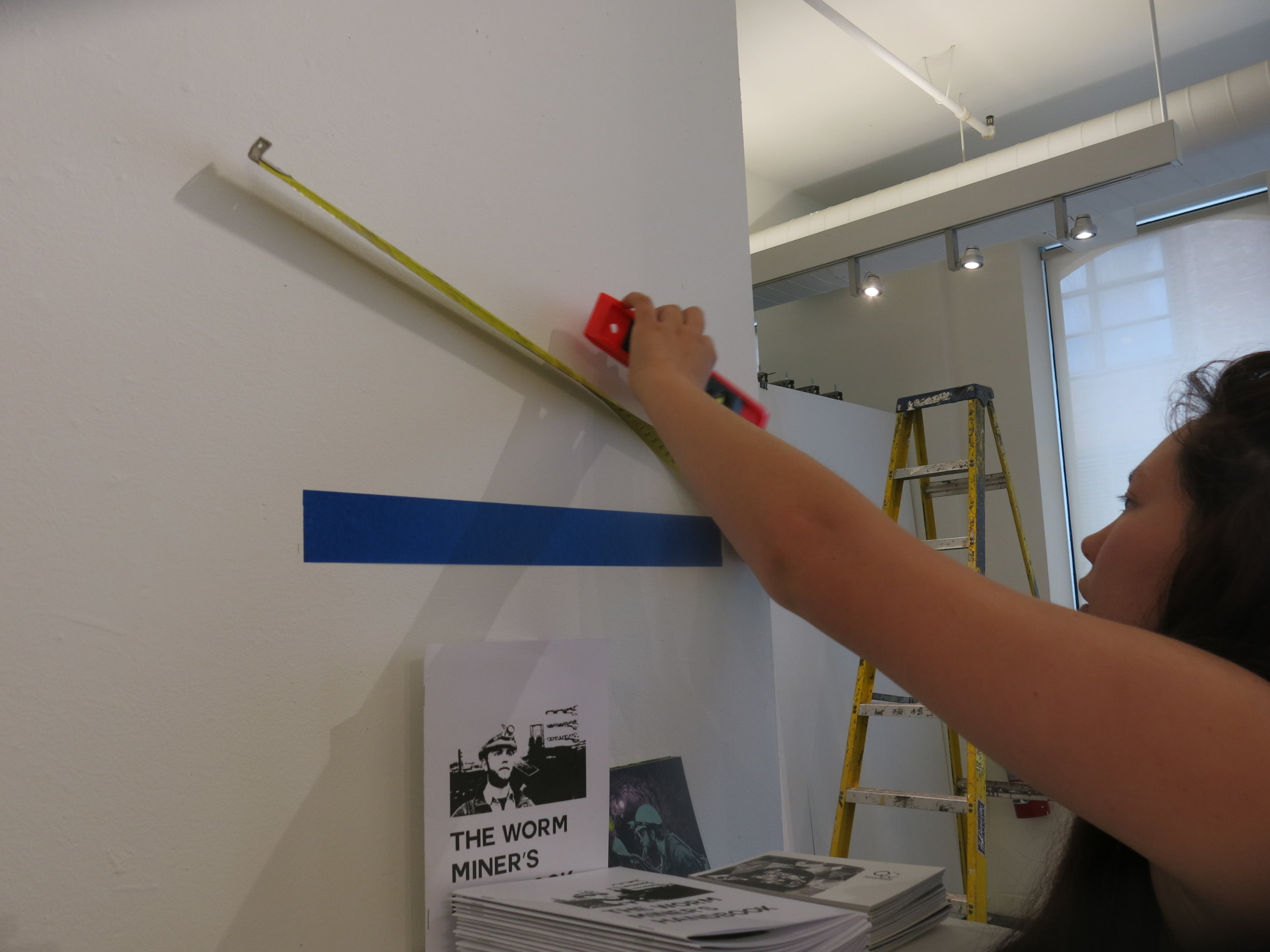 Installing for the Biodesign Challenge exhibition at SVA - School of Visual Arts, NY.