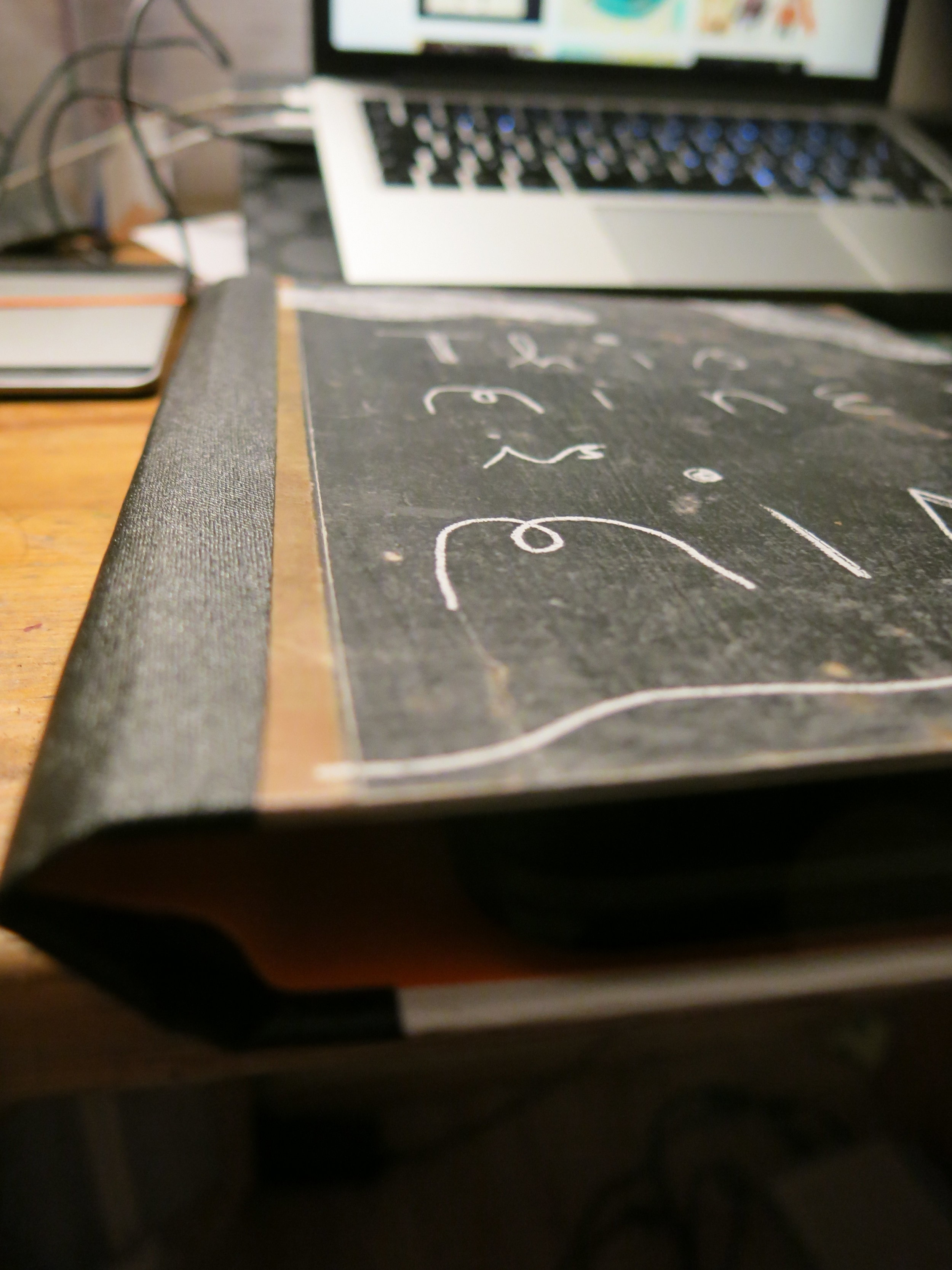 Detail of the bound cover