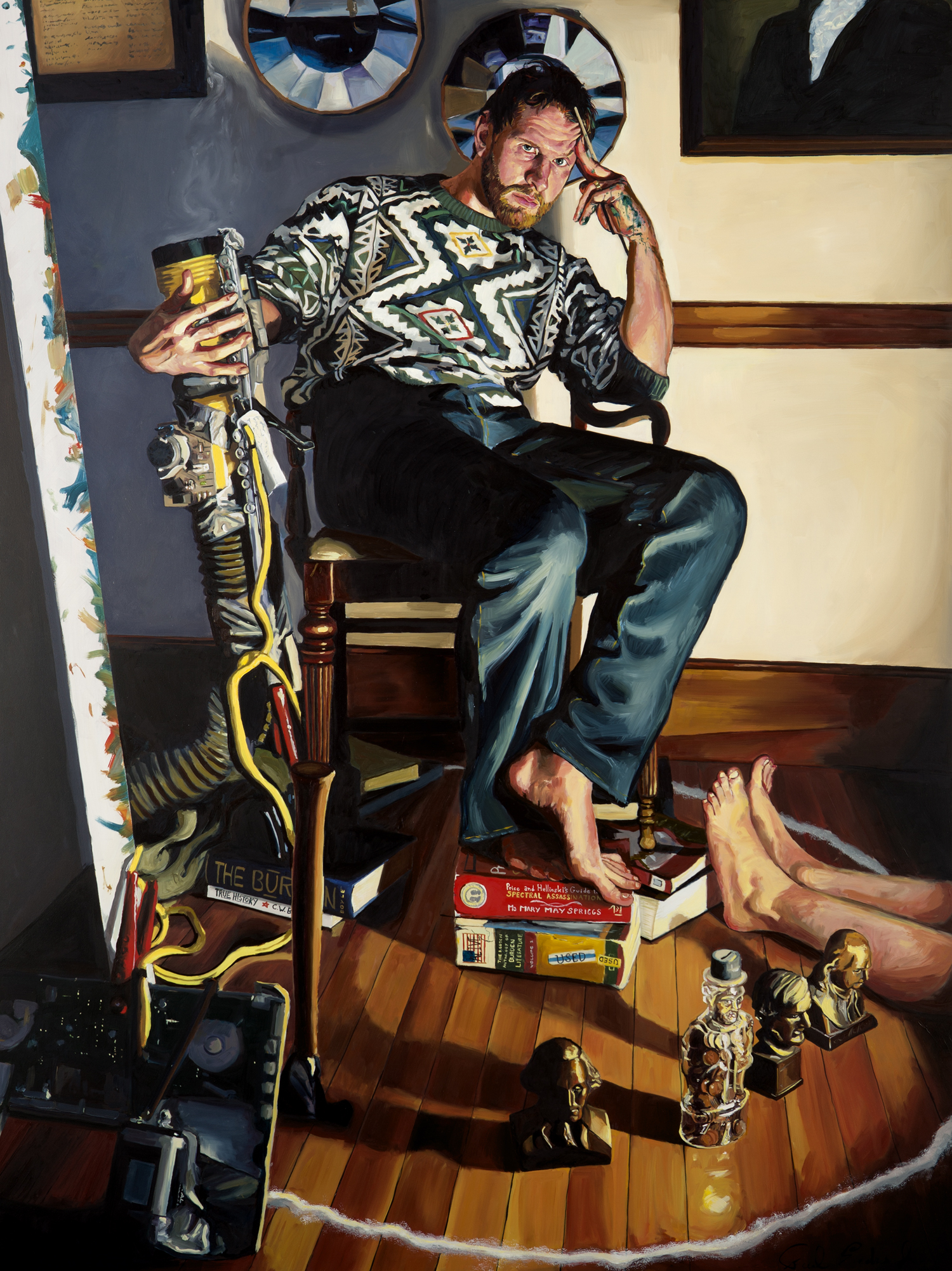 "Portrait of C.W. Boyle, 48"" x 36"" Oil on Panel, 2013"