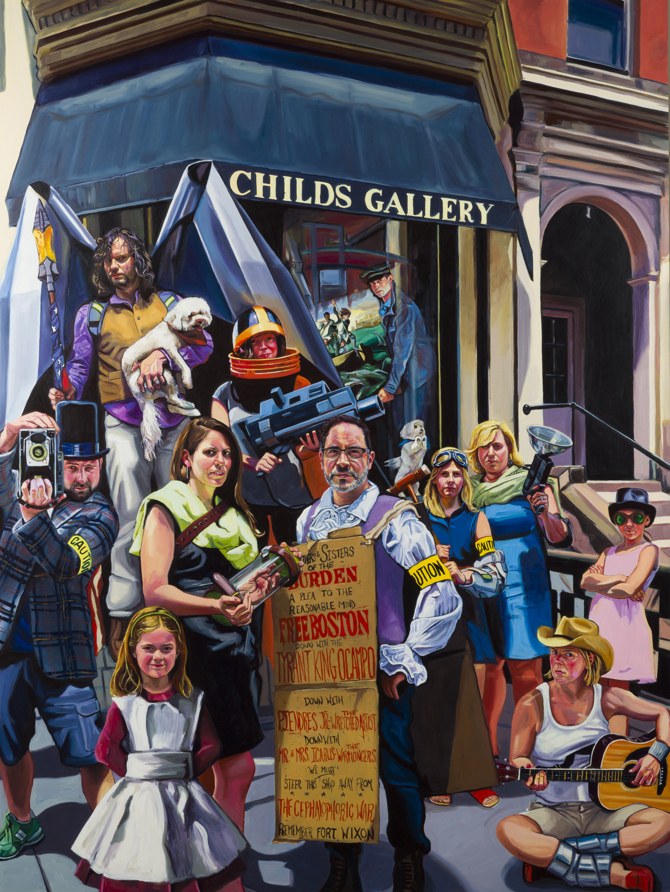 "Childs Gallery and the Great Aquinas Gambit, 48"" x 36"" Oil on Panel, 2014"