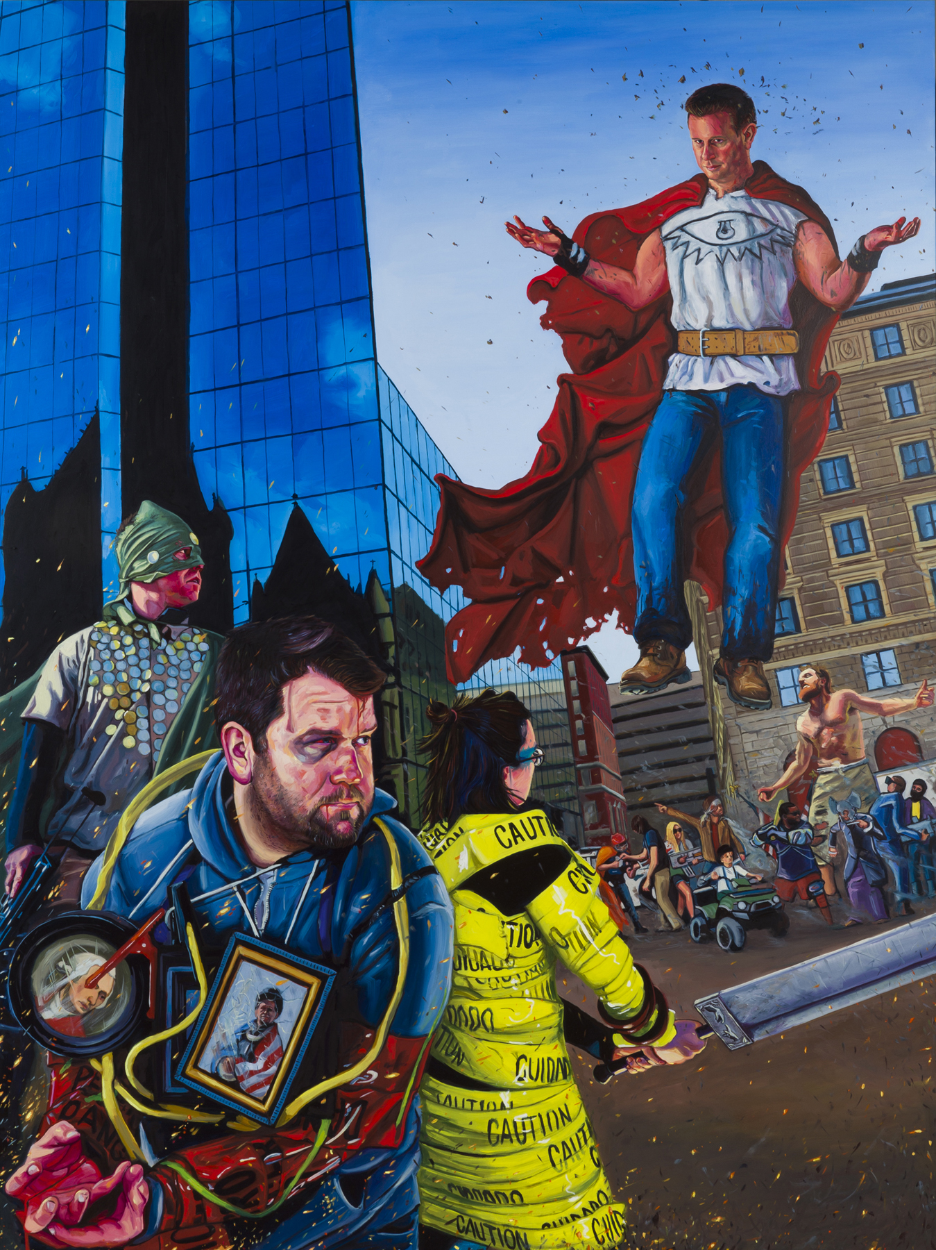 "The Copley Endgame, 48"" x 36"" Oil on Panel, 2014"