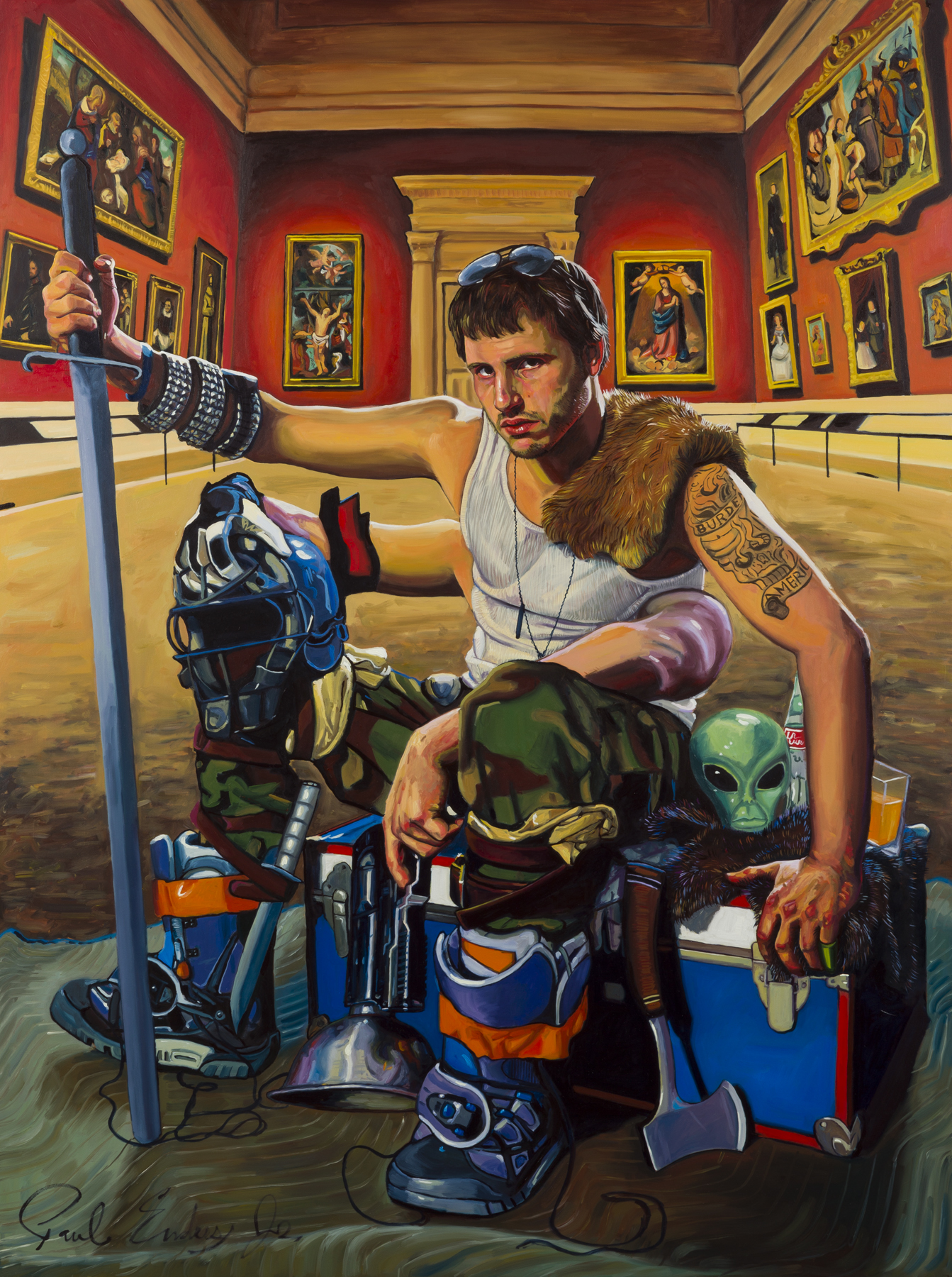 "Magnus Thrax: Keeper of the Halls, 40""x 30"" Oil on Panel, 2014"