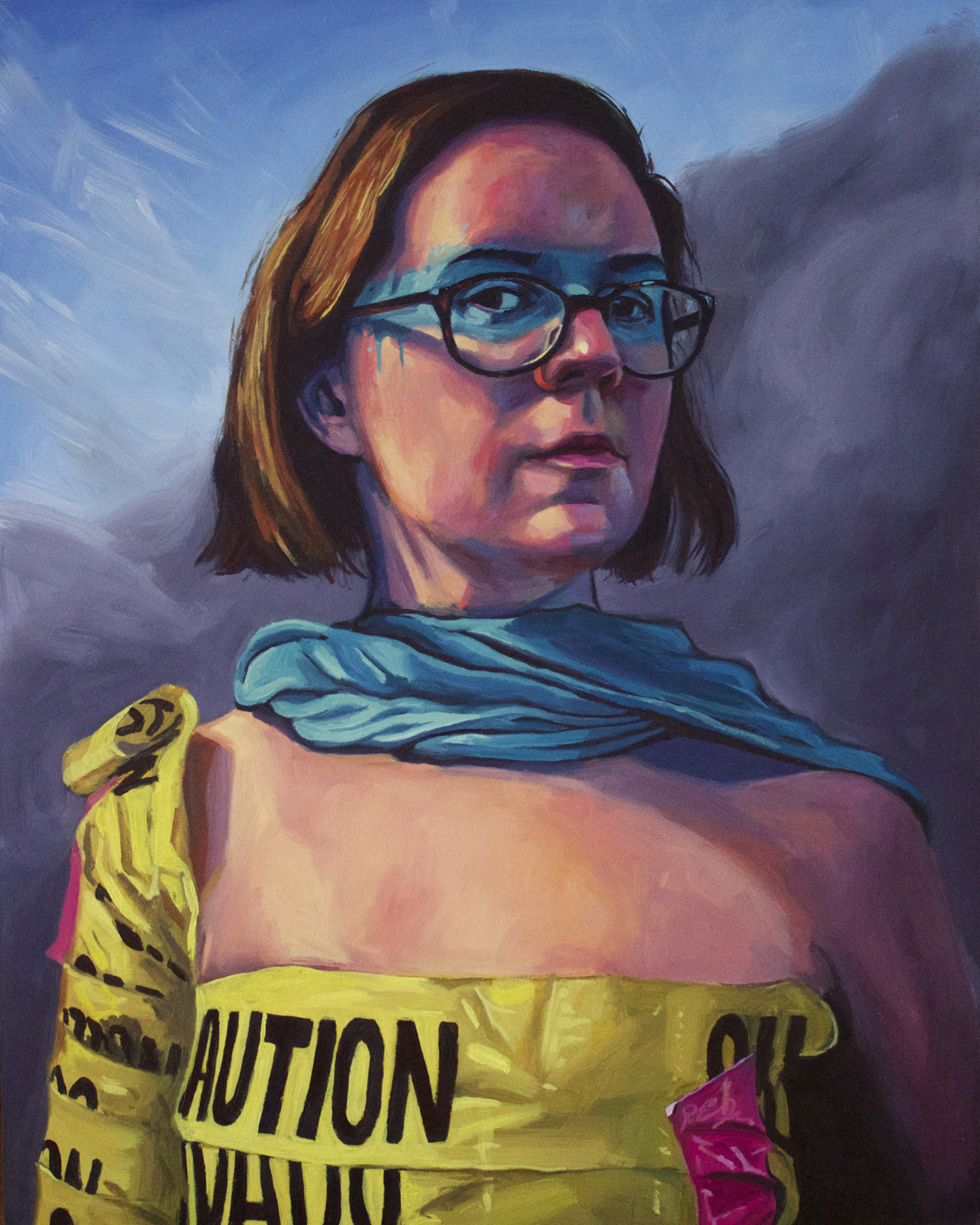 "Abigail Readies for War, 10"" x 8"" Oil on Panel, 2014"