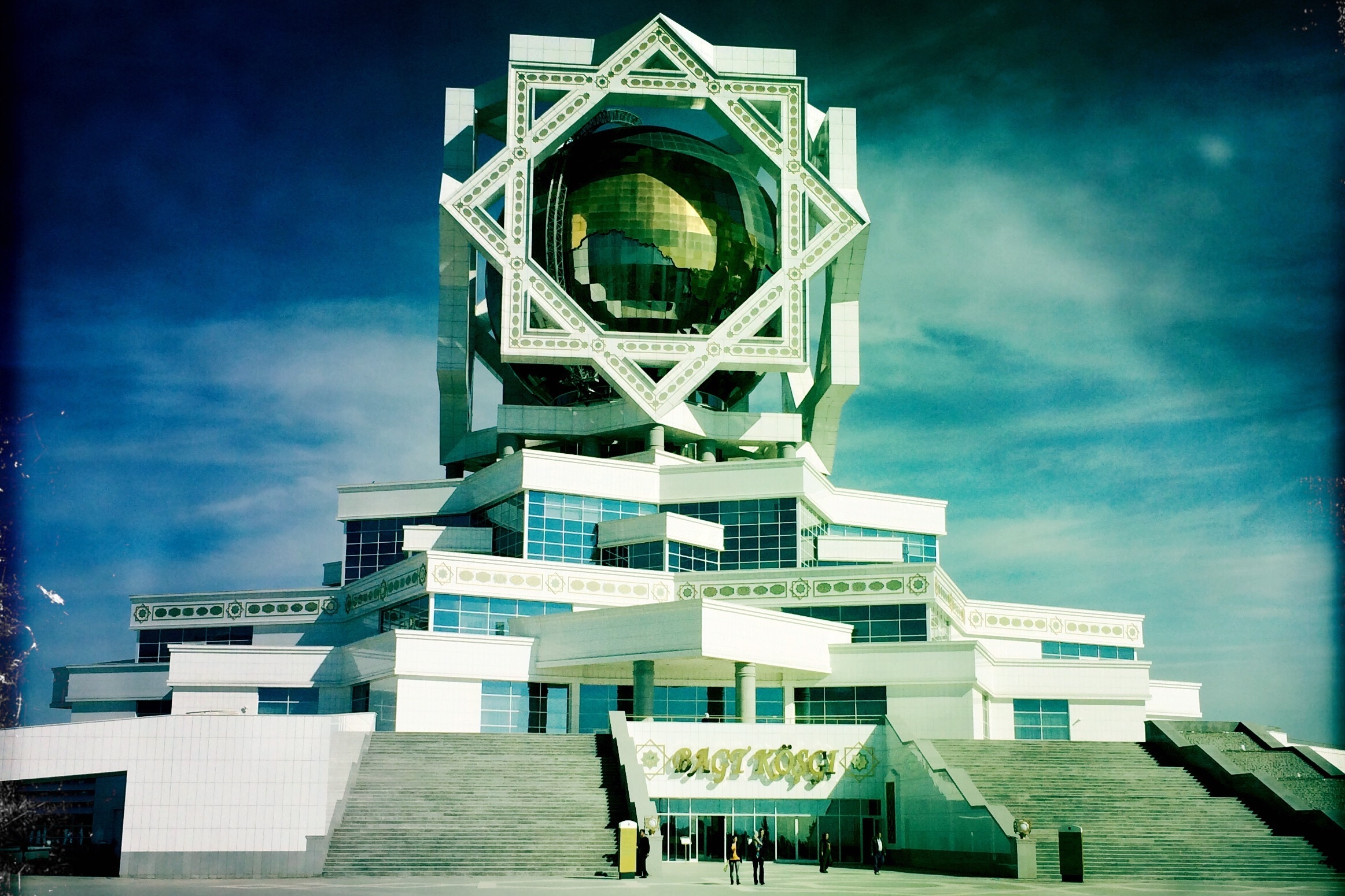 The Palace of Happiness, Ashgabat, Turkmenistan. Photo by Sarah Grochala
