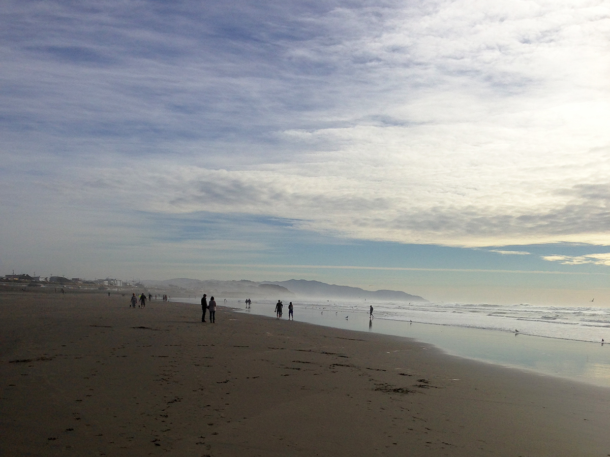 Ocean Beach, San Francisco. Photo by June Jackson, 2014.