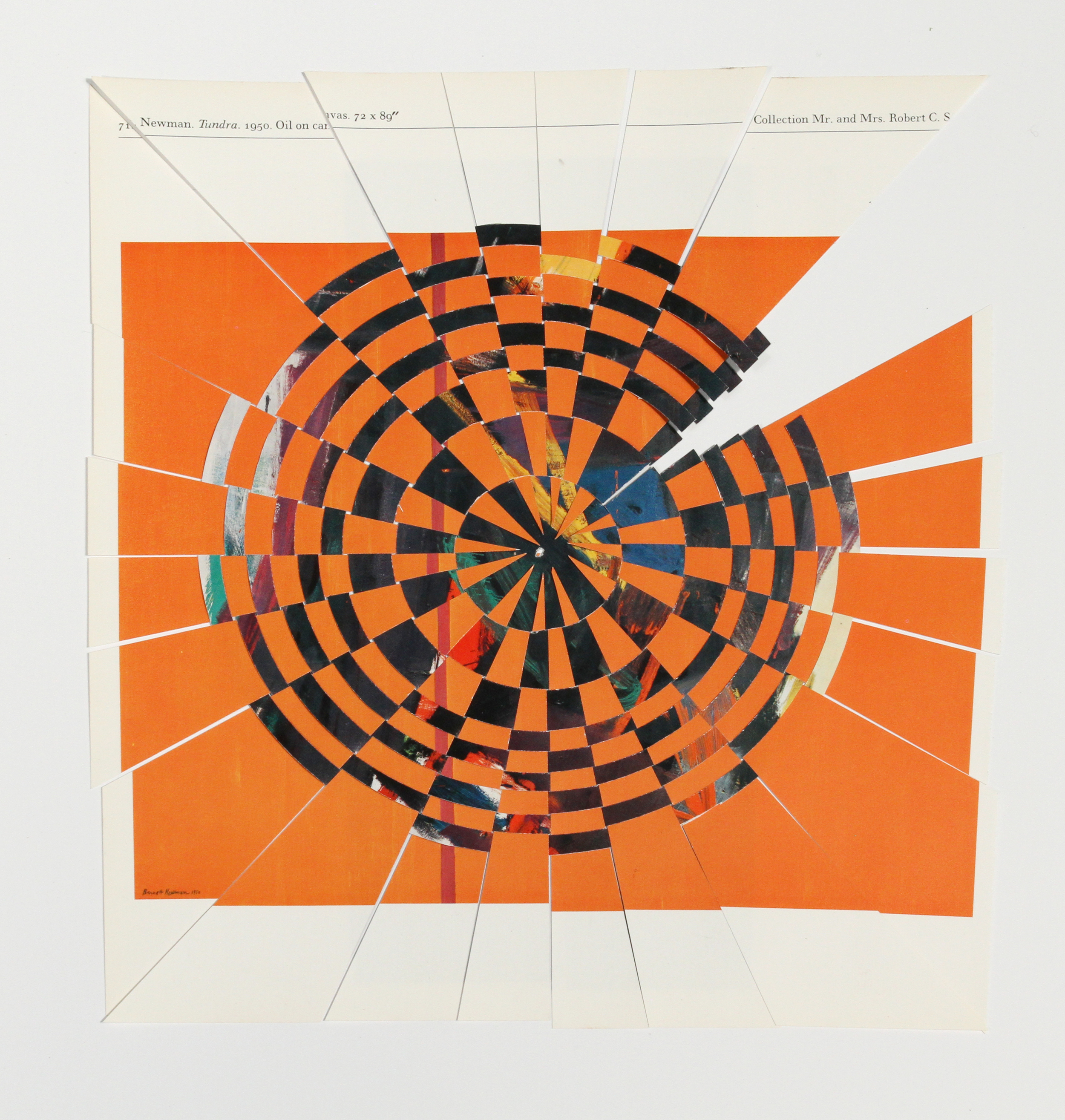 newmanklein, 2013, paper weaving, 10 x 10