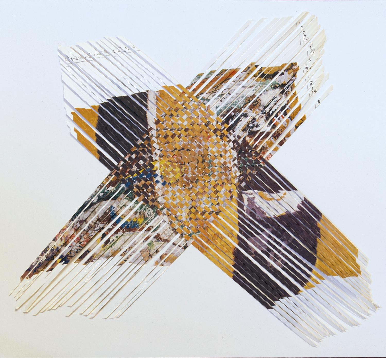 motherwellpollock, 2014, paper weaving, 10 x 11