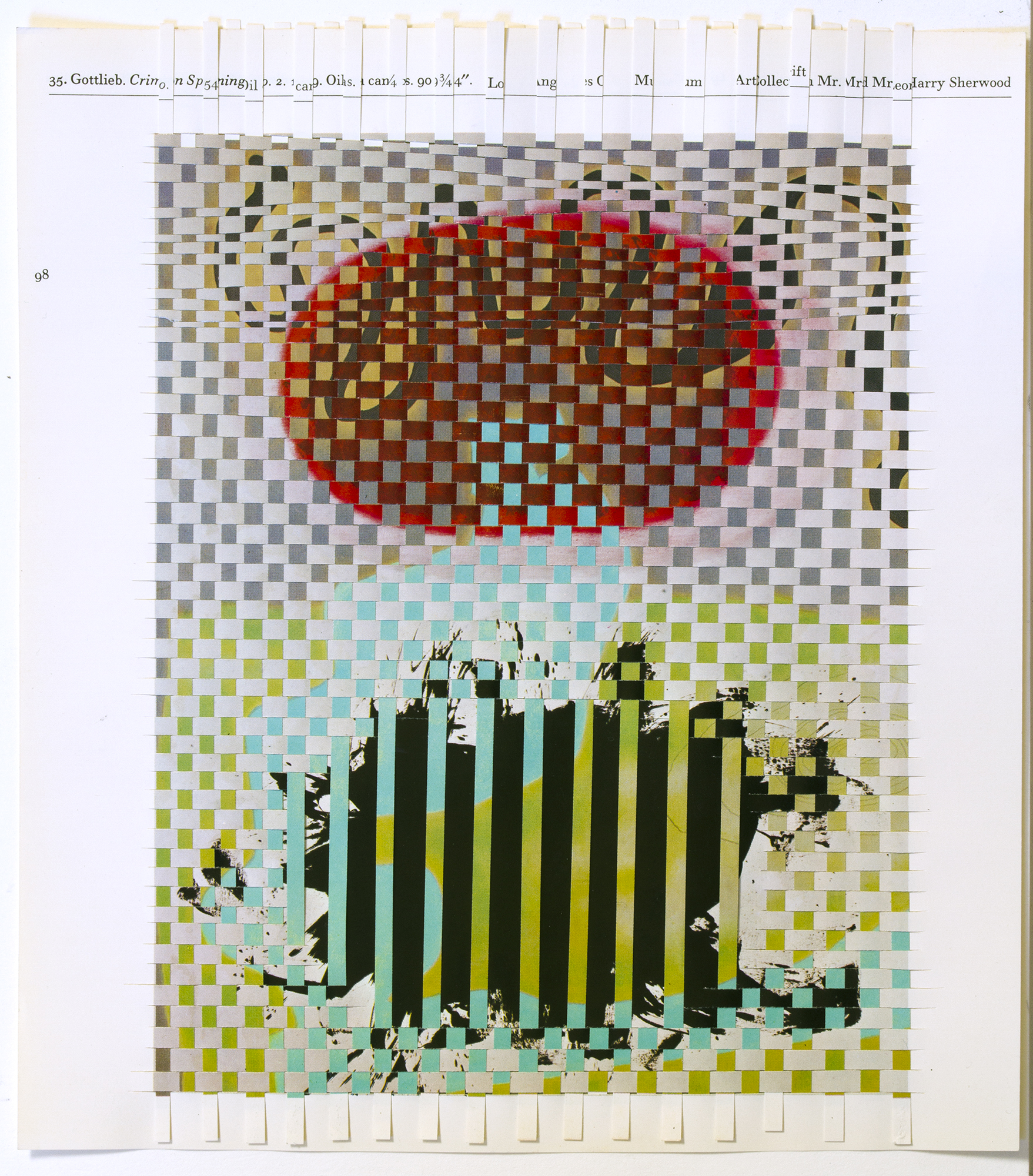 gottliebbaziote, 2014, paper weaving, 8 x 9