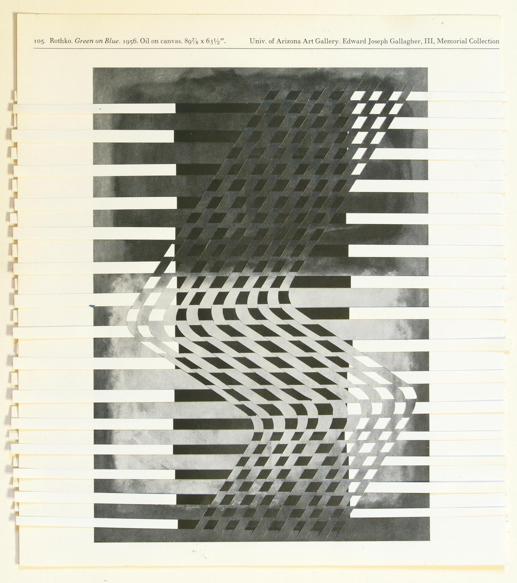 rothkoreinhardt (black and white), 2014, paper weaving, 8 x 9