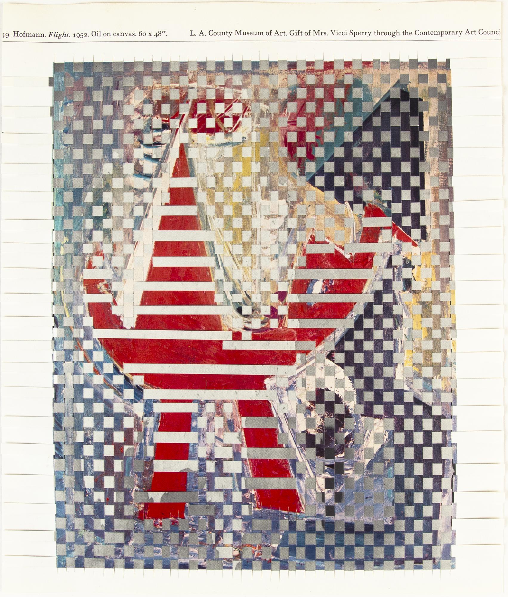hofmannstill, 2014, paper weaving, 8 x 9