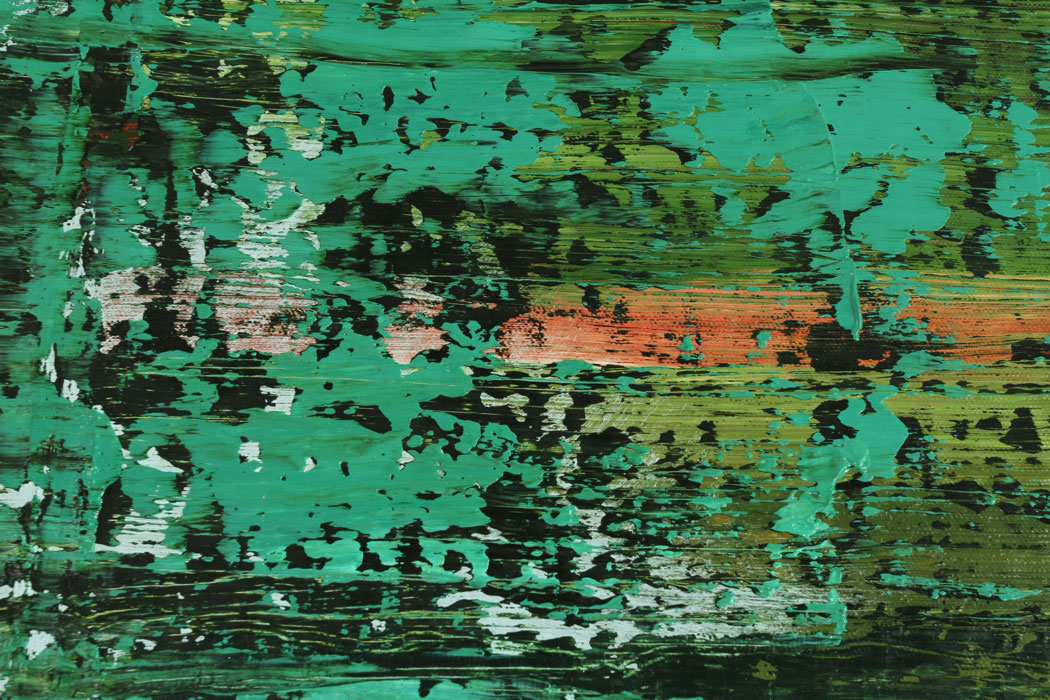 untitled (big green) DETAIL, 2013, oil on canvas, 83 x 55