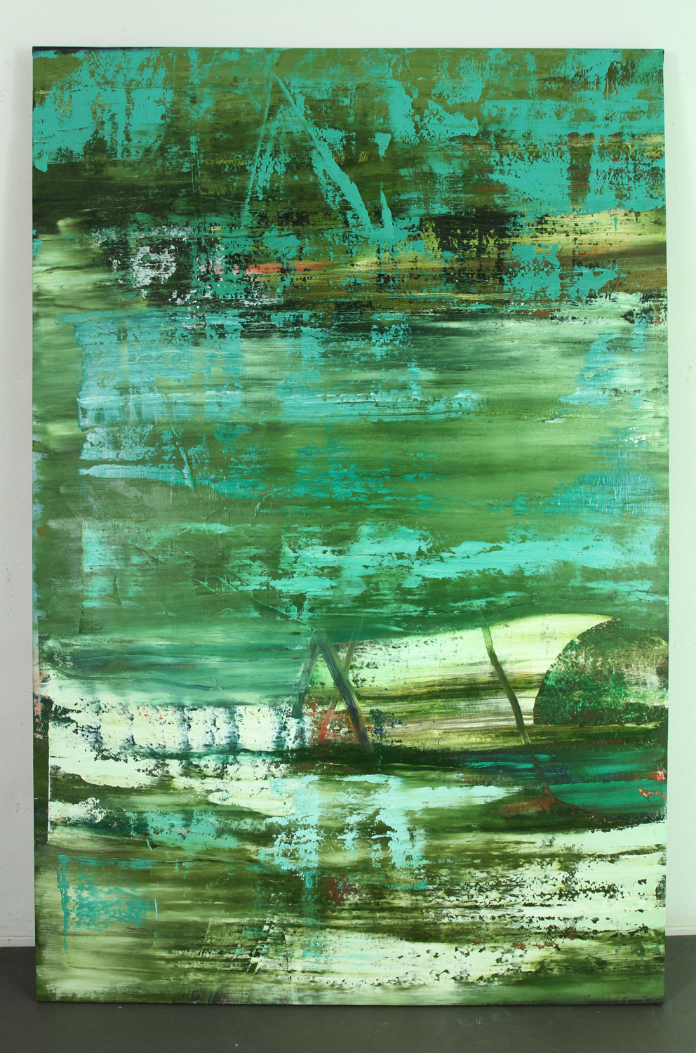 untitled (big green), 2013, oil on canvas, 83 x 55