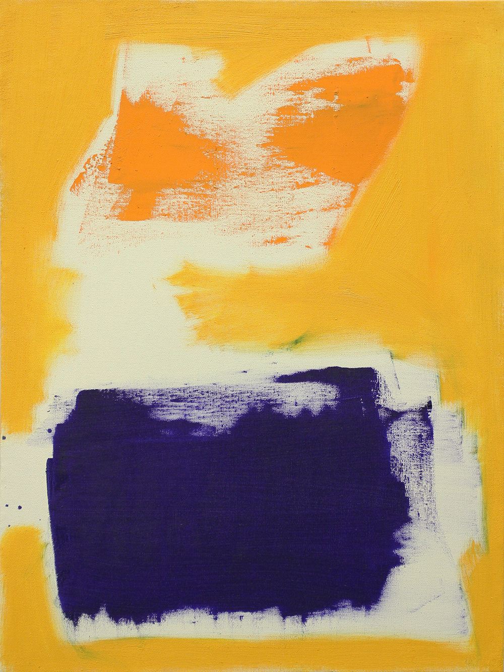 yellow, 2013, oil on canvas, 24 x 18 in