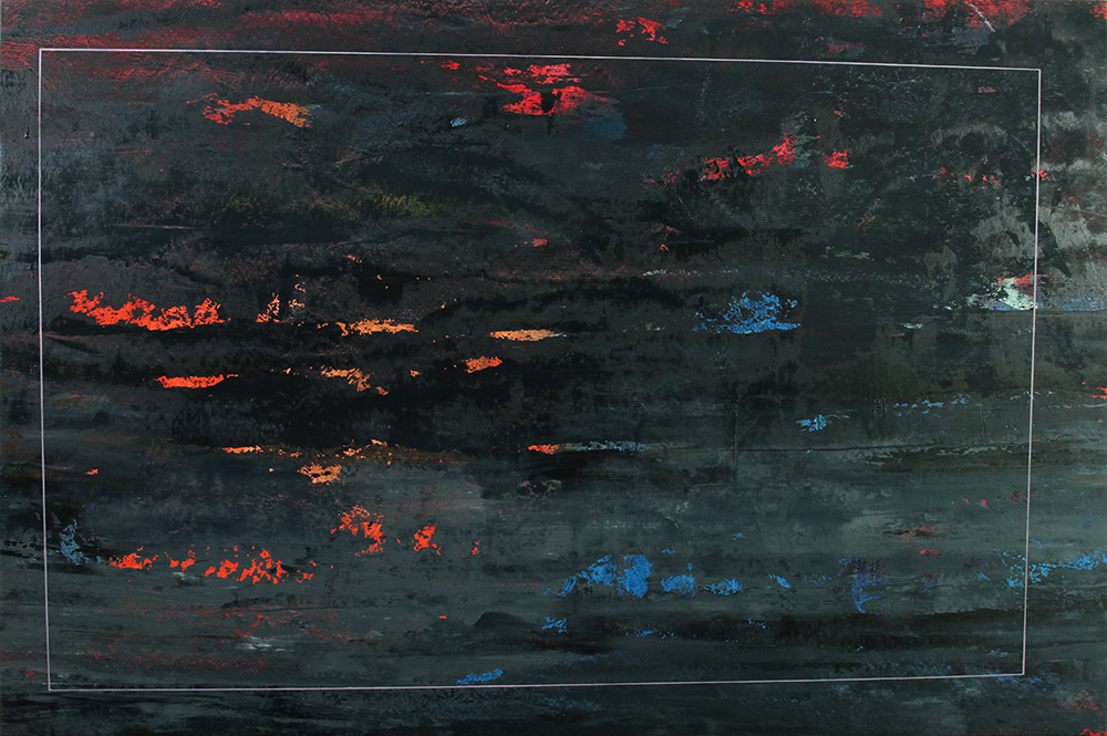 cold black, 2013,  oil on canvas, 35 x 53 inches