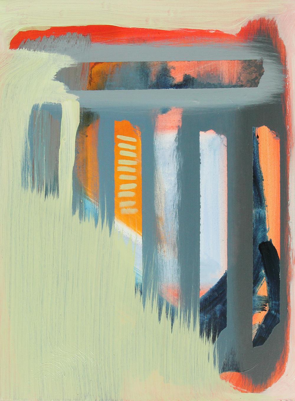 light green, 2013, oil on panel, 13.5 x 10.5in