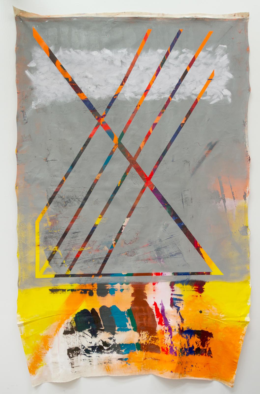 Grey Ex, oil on canvas, 100 x 72