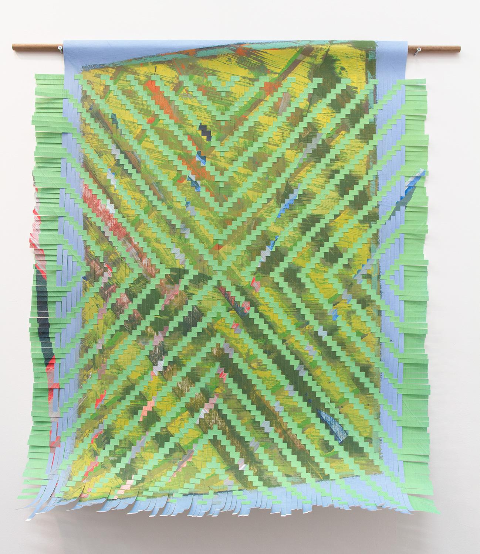 light green, 2017, woven inkjet print on paper, 47 x 37in.