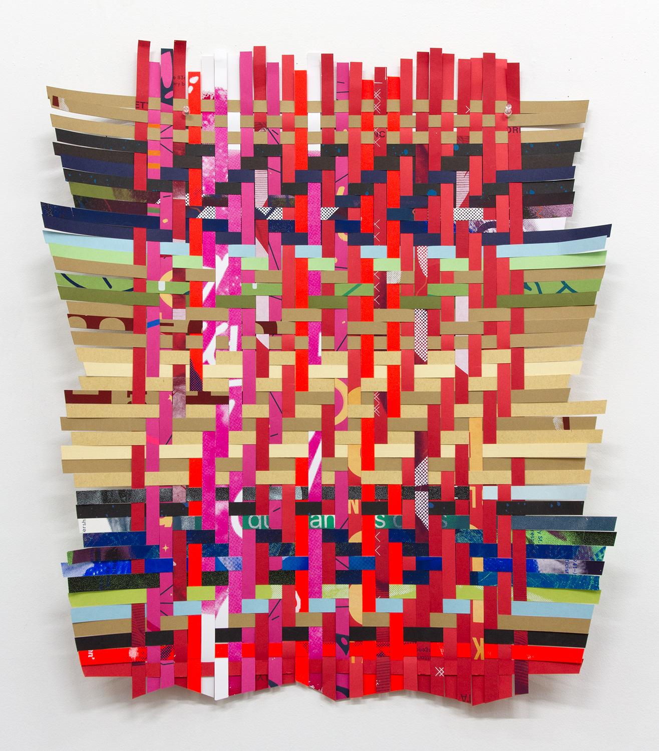 "ARL_006, 2017, woven Facebook silkscreen posters, 26 x 22.5"""